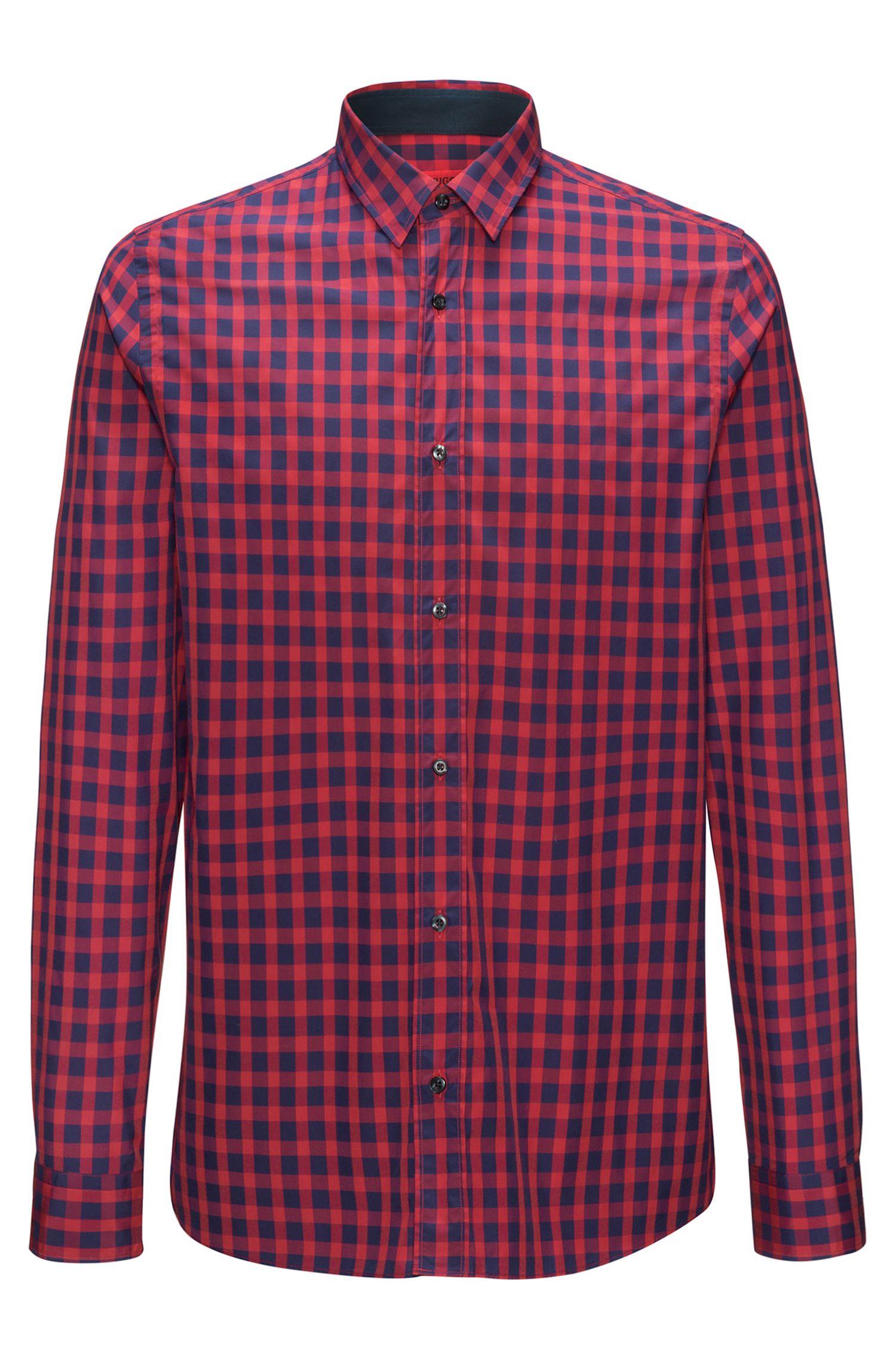 Chemise en coton à carreaux vichy