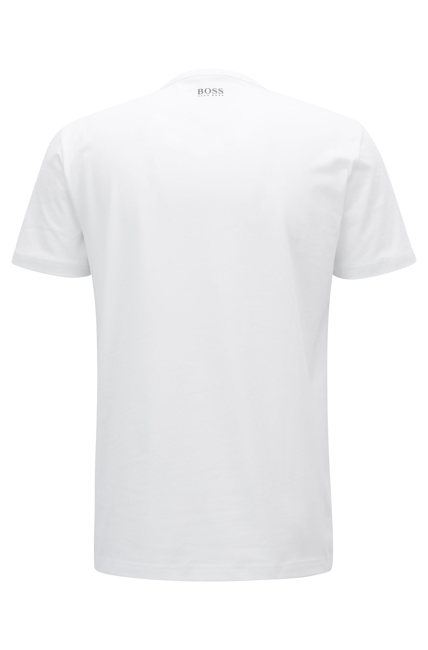 T-shirt Regular Fit en coton stretch avec logo