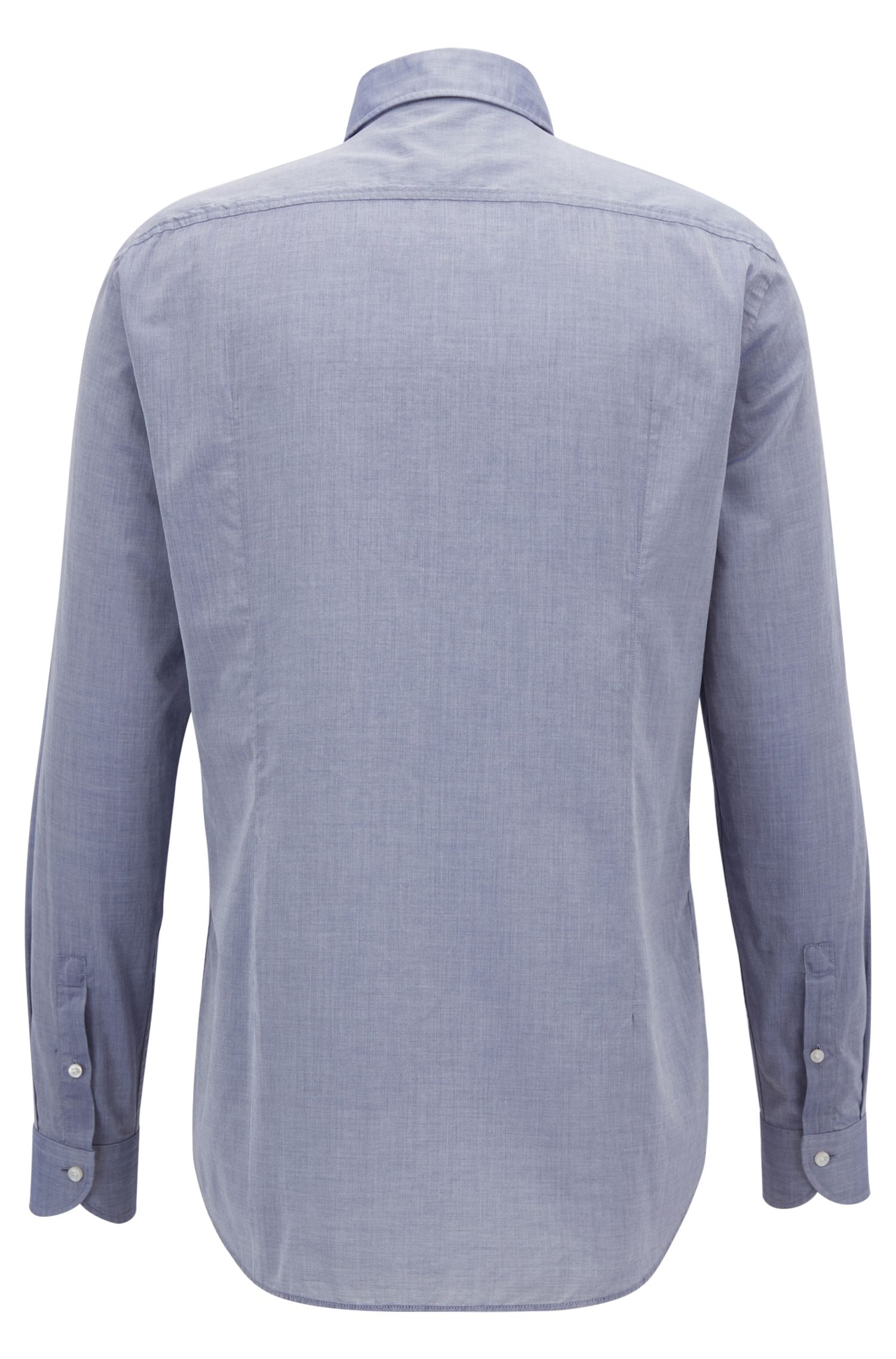 Slim-Fit Hemd aus gewaschener Baumwolle