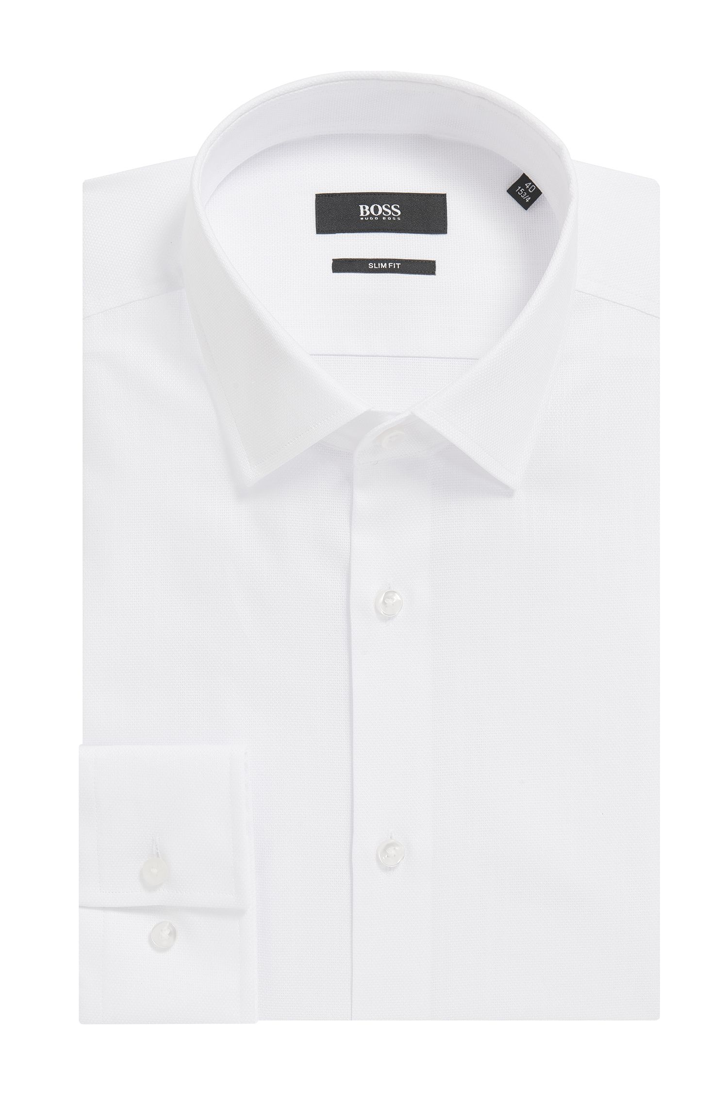 Slim-fit shirt in pure Oxford cotton