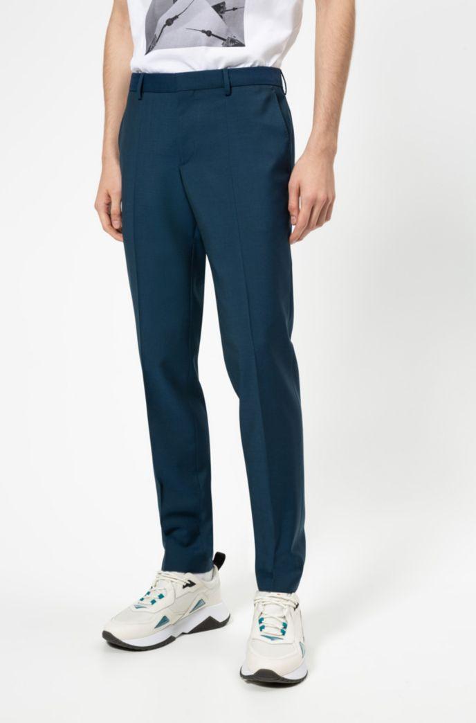 Pantalon Slim Fit en laine vierge texturée