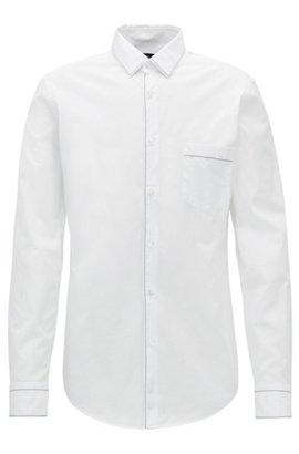 HUGO BOSS Chemise Extra Slim Fit en coton avec finition contrastante au niveau du col Z7RMWSx