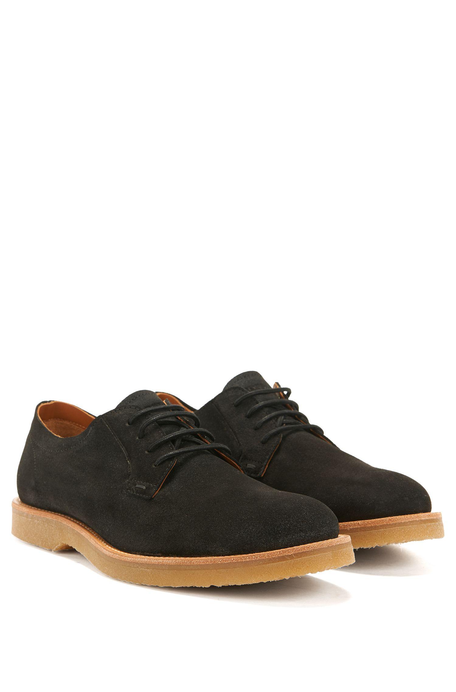 Chaussures derby à lacets en daim avec semelle gomme195.00BOSS