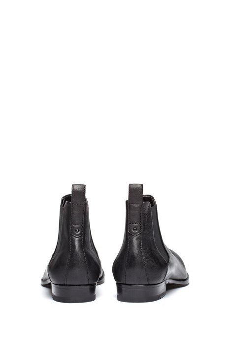 Chelsea boots in grained leather with a distinctive heel HUGO BOSS wEcfl2