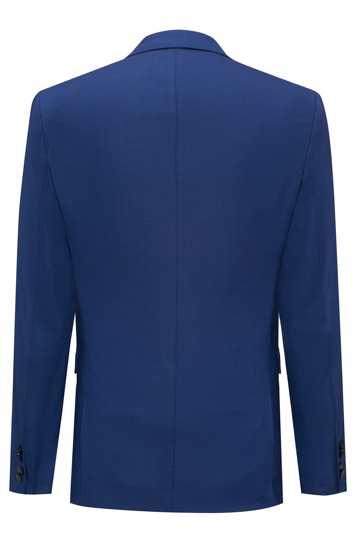 Extra-slim-fit Italian-virgin-wool suit, Dark Blue