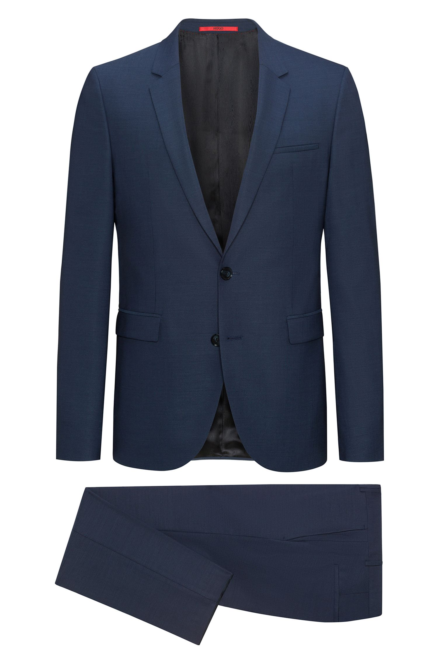 Extra-slim-fit Italian-virgin-wool suit