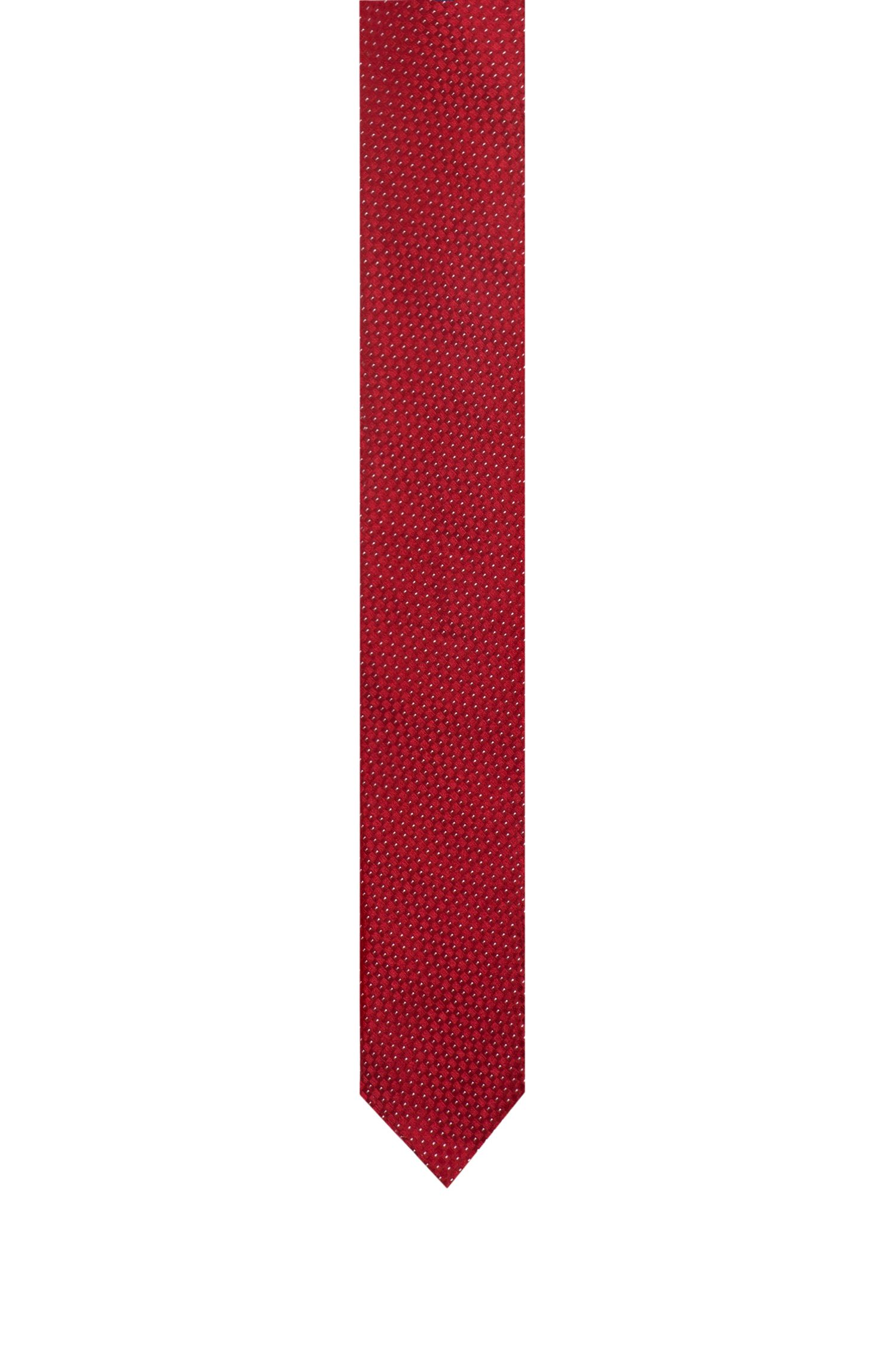 Silk jacquard tie with micro-pattern