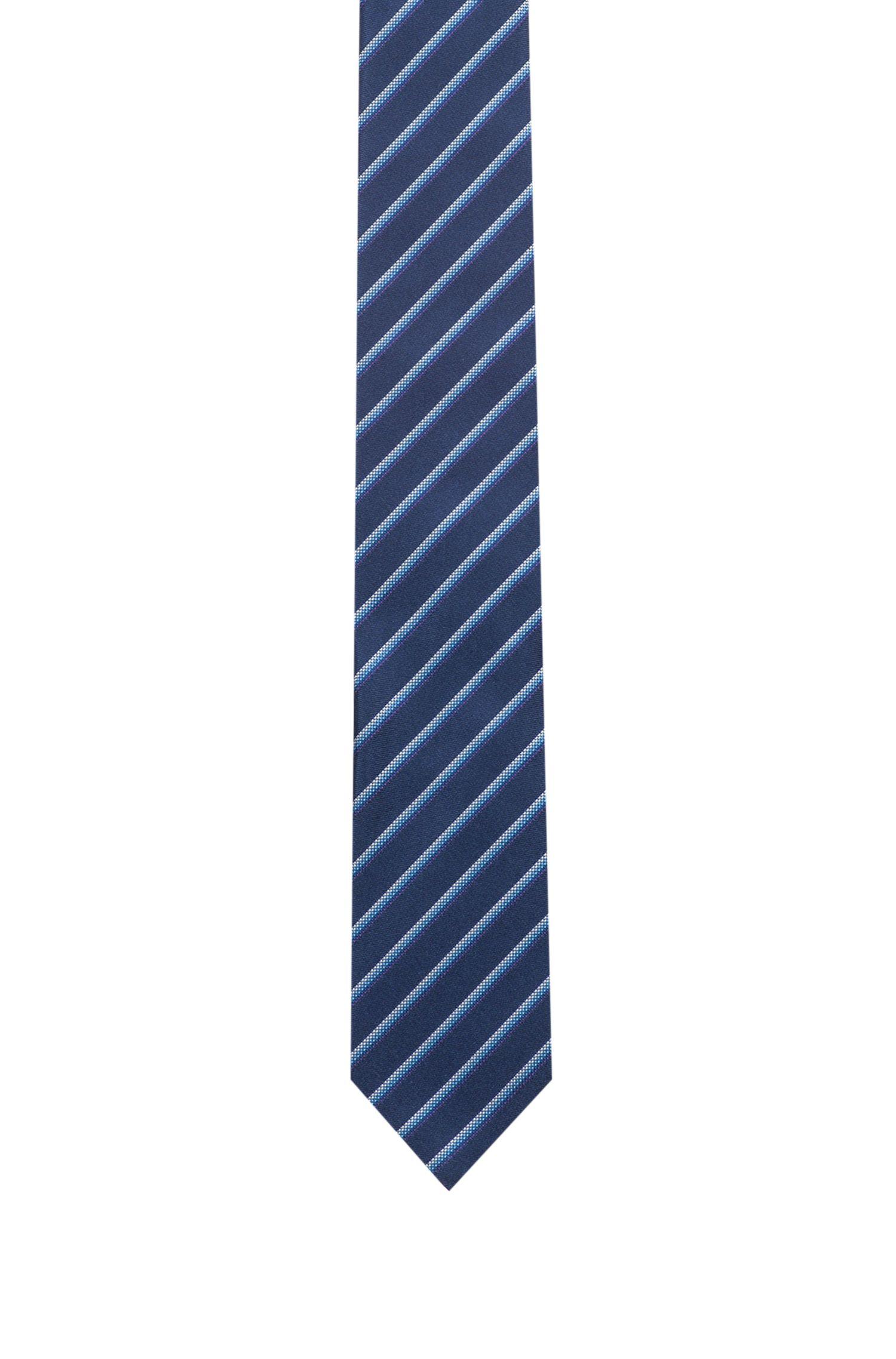 Cravate en soie à rayures diagonales