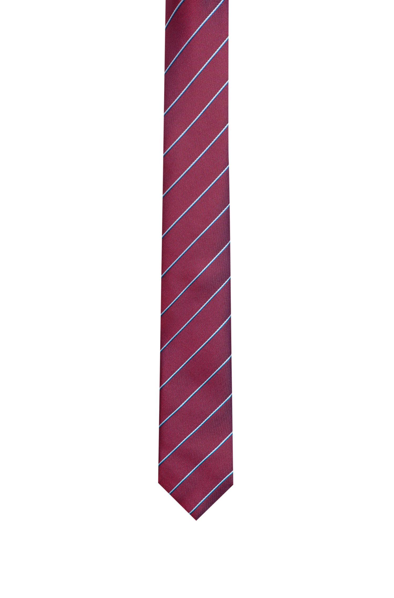 Gestreepte stropdas van jacquardgeweven zijde