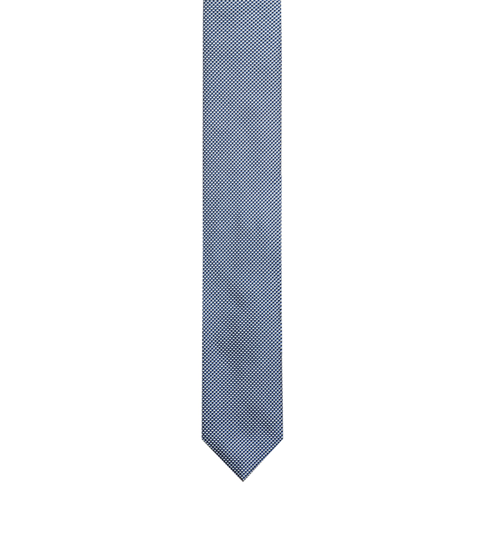 7cm brede stropdas van jacquardgeweven zijde, Donkerblauw