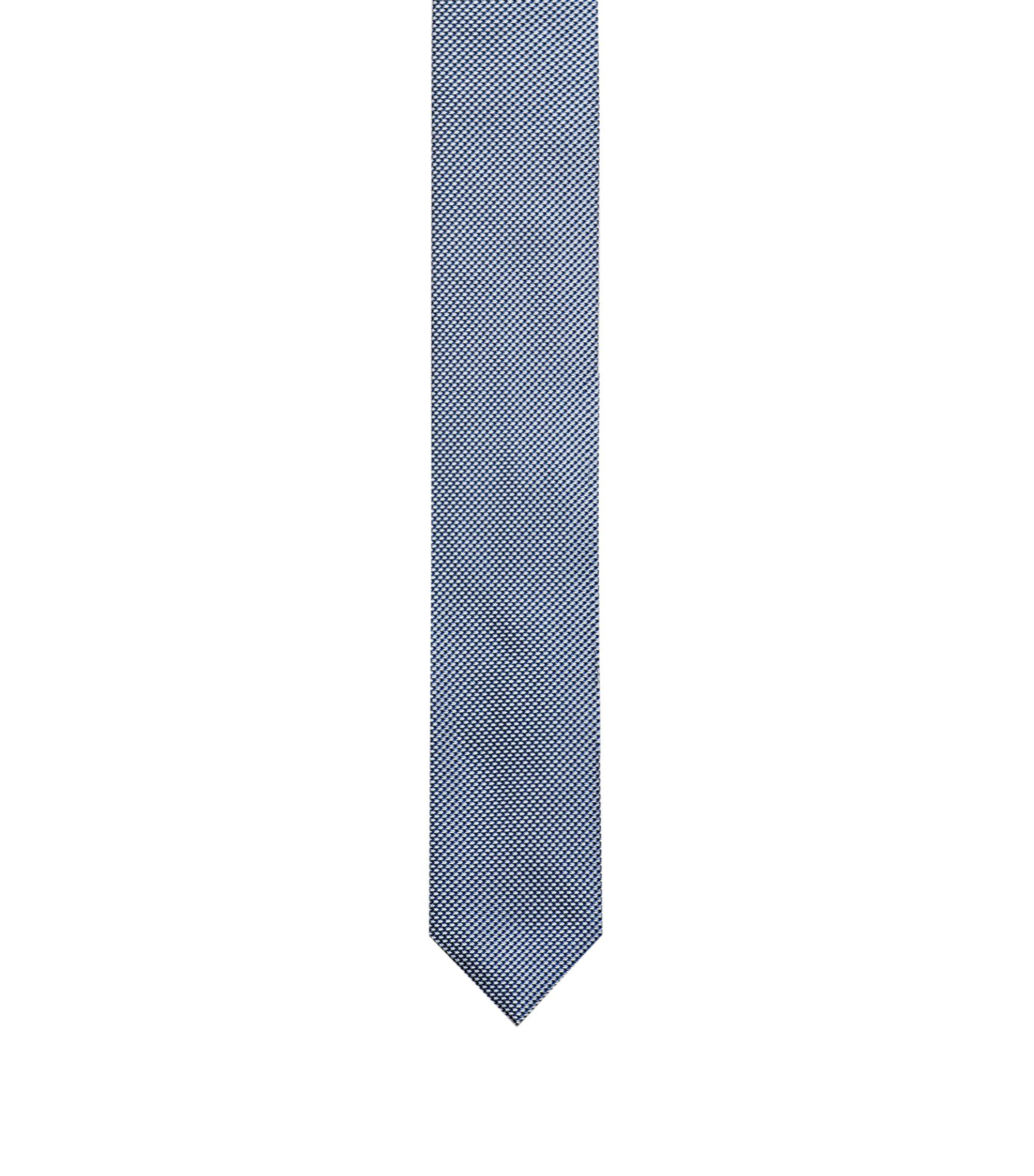 Krawatte aus Seiden-Jacquard, Dunkelblau