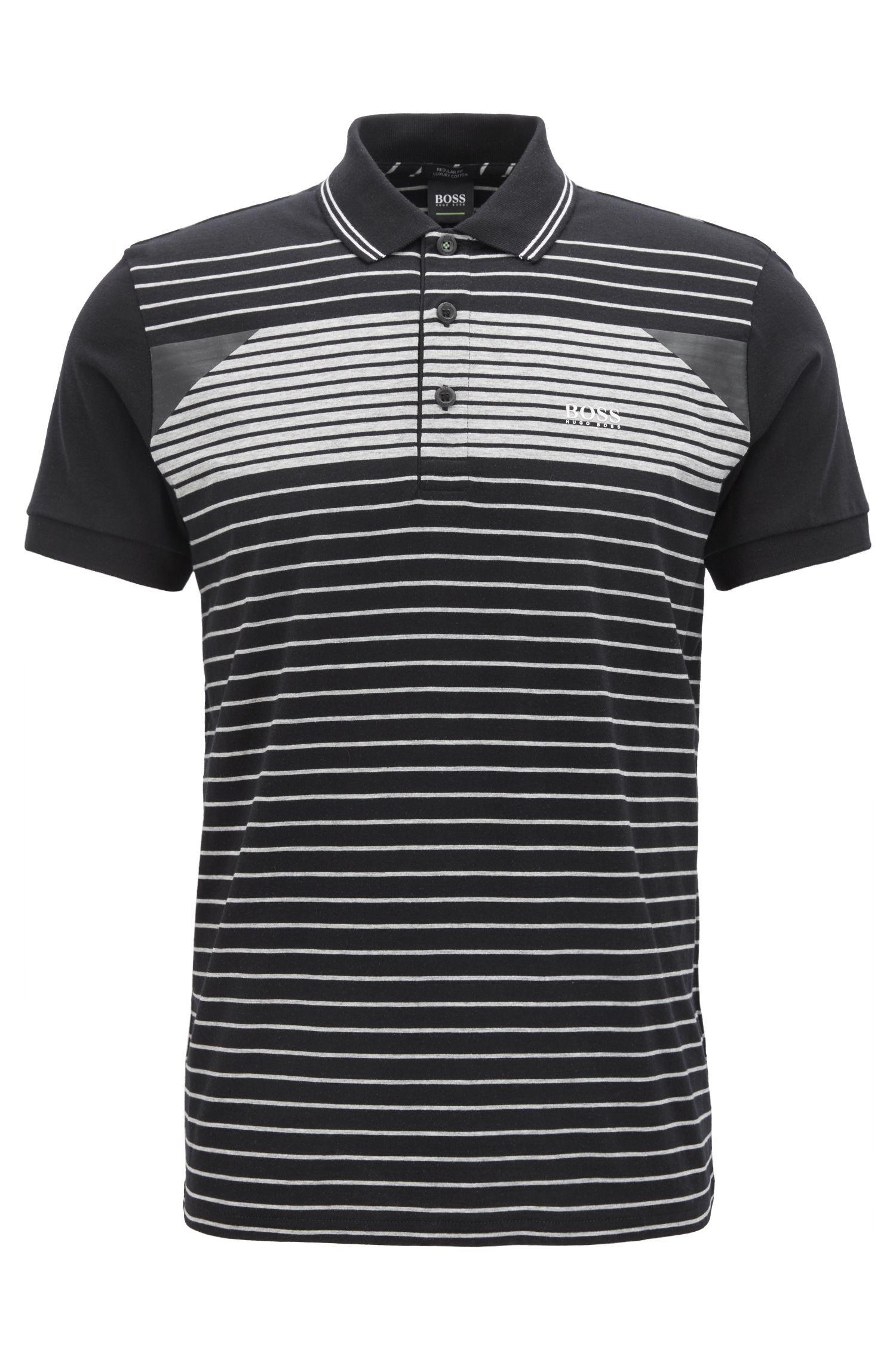 Gestreiftes Poloshirt aus Baumwoll-Jersey