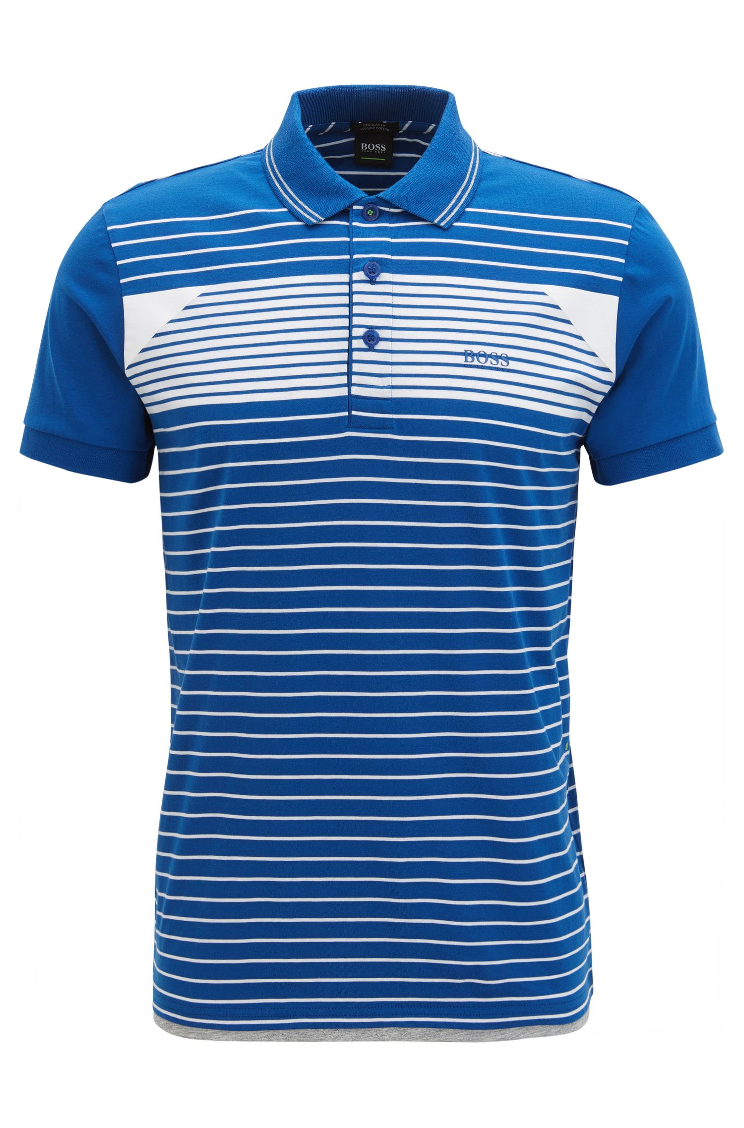 Striped polo shirt in cotton jersey