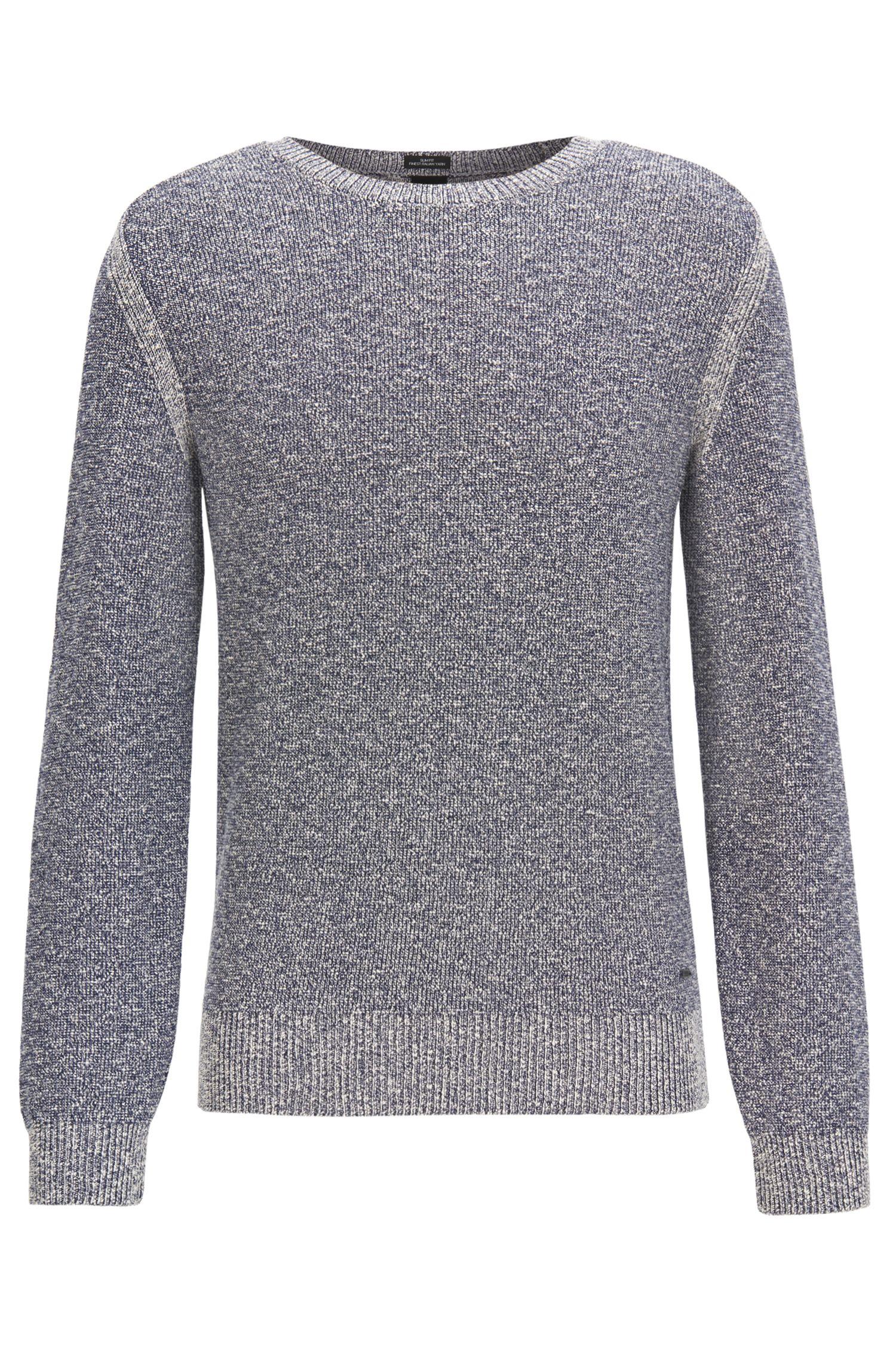 Pullover aus Baumwoll-Mix mit kontrastfarbenen Details