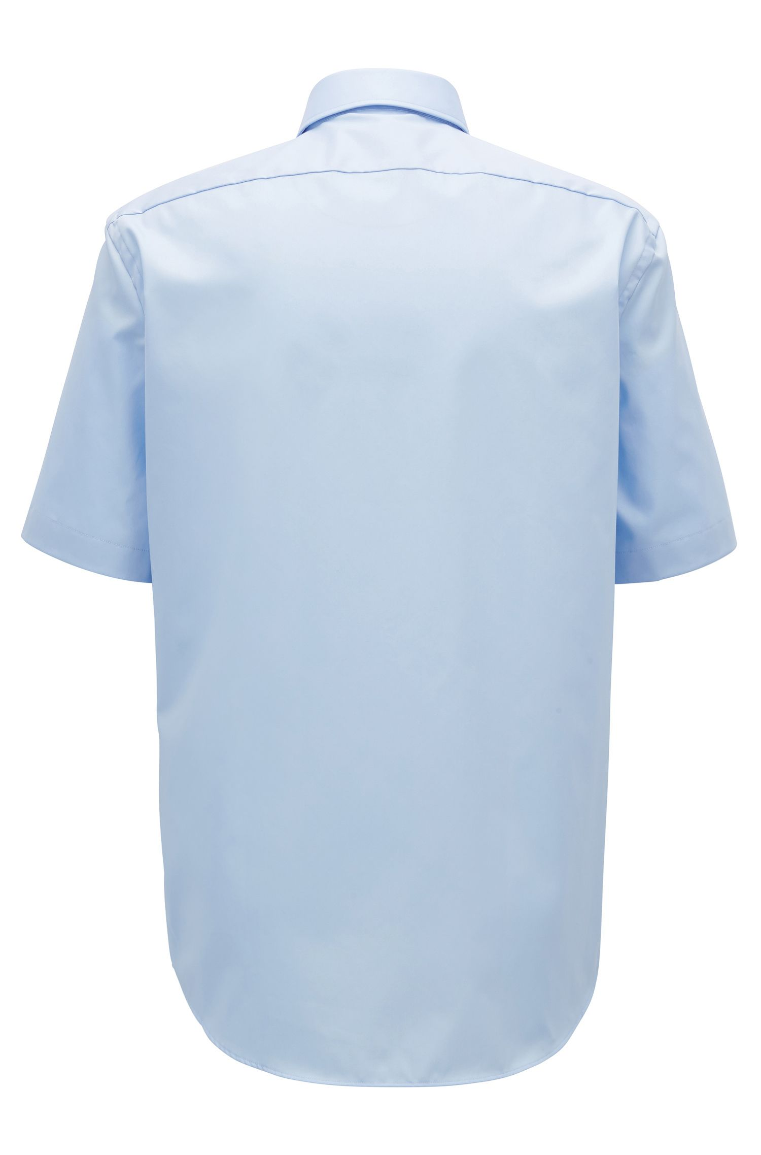 Short-sleeved easy-iron cotton poplin shirt