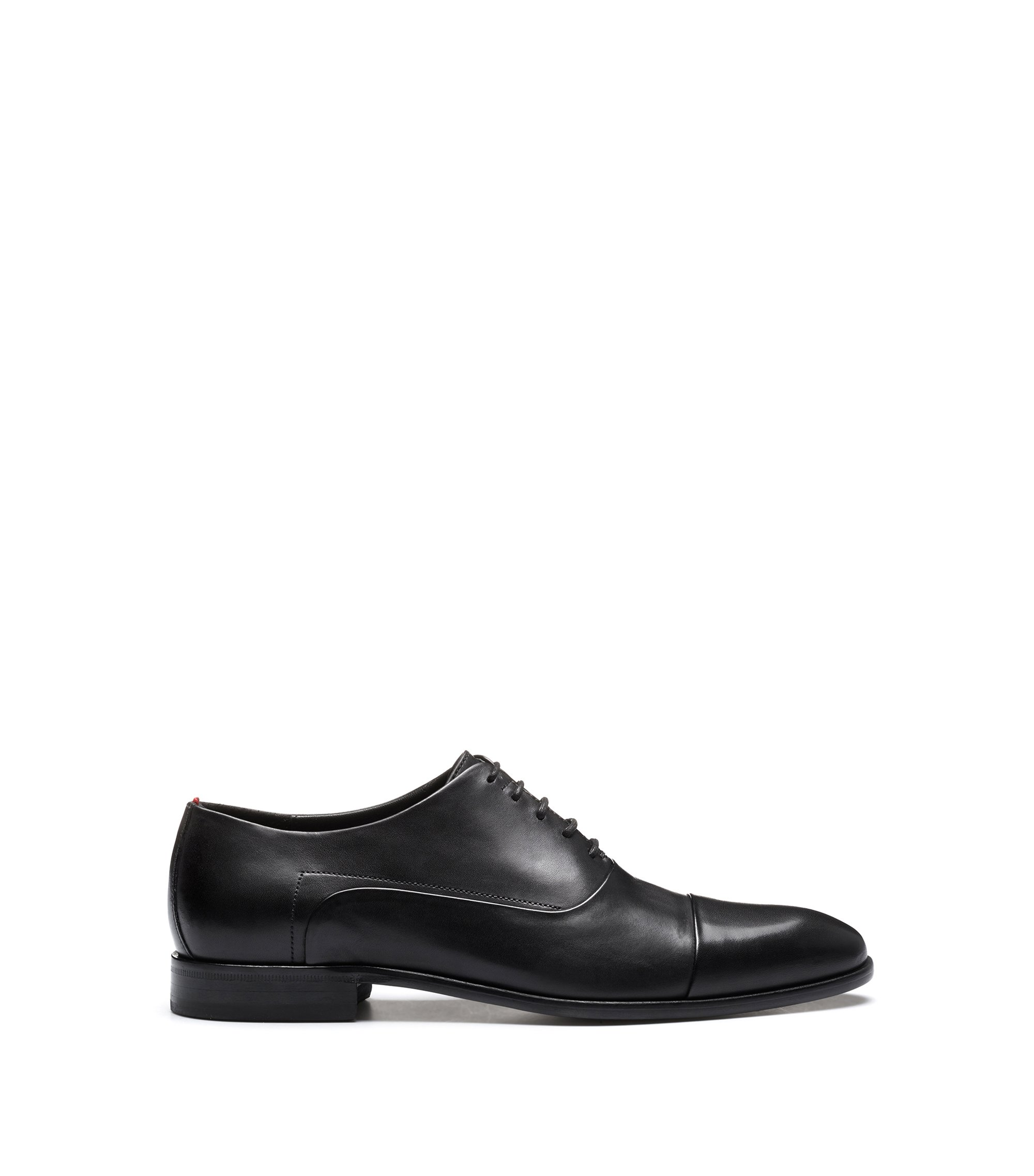 Oxford shoes in smooth calf leather, Nero