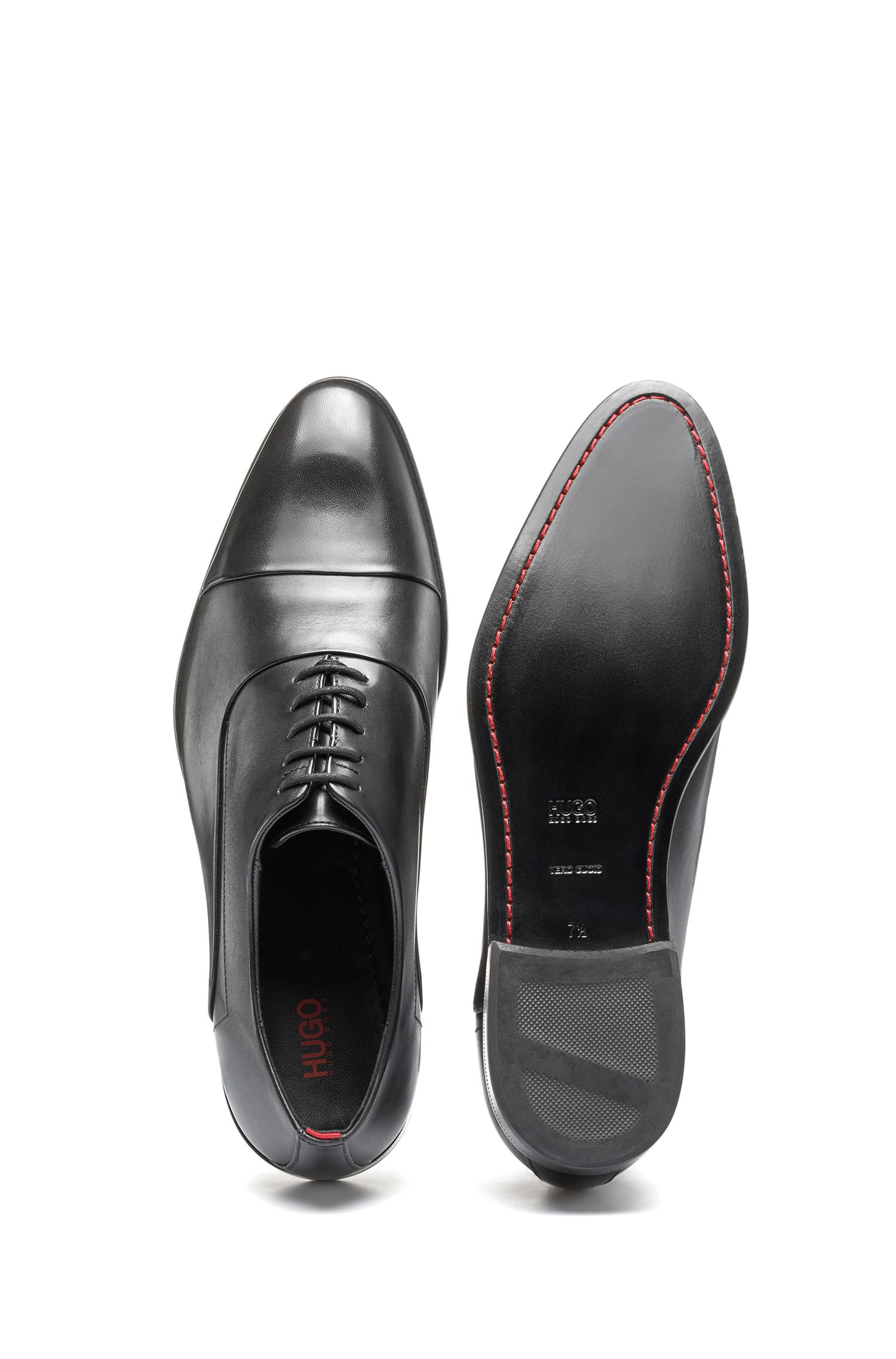 Oxford shoes in smooth calf leather