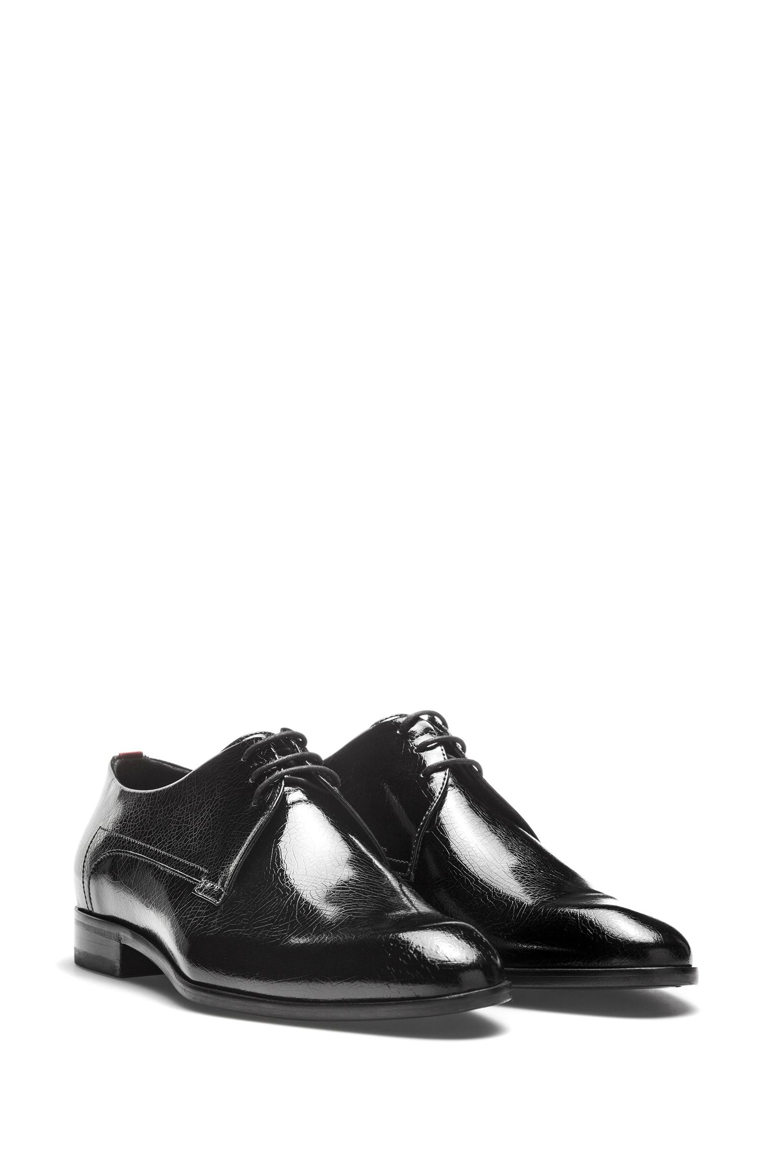 Patent calf-leather Derby shoes