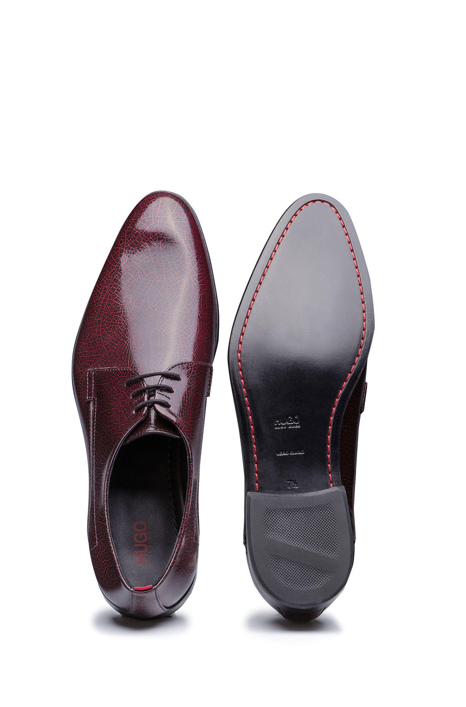 Zapatos Derby en piel de becerro de charol
