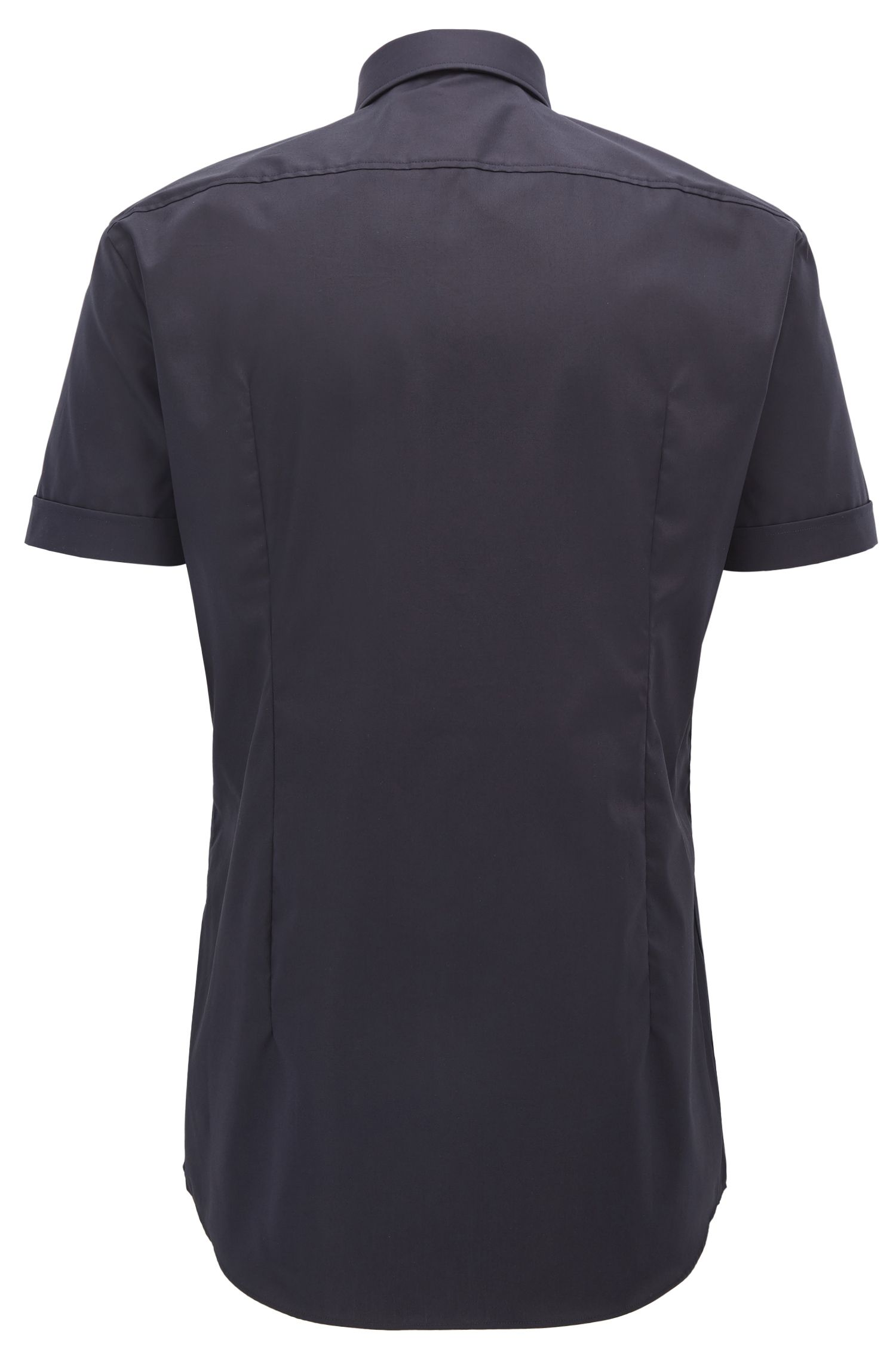 Short-sleeved cotton shirt in a slim fit