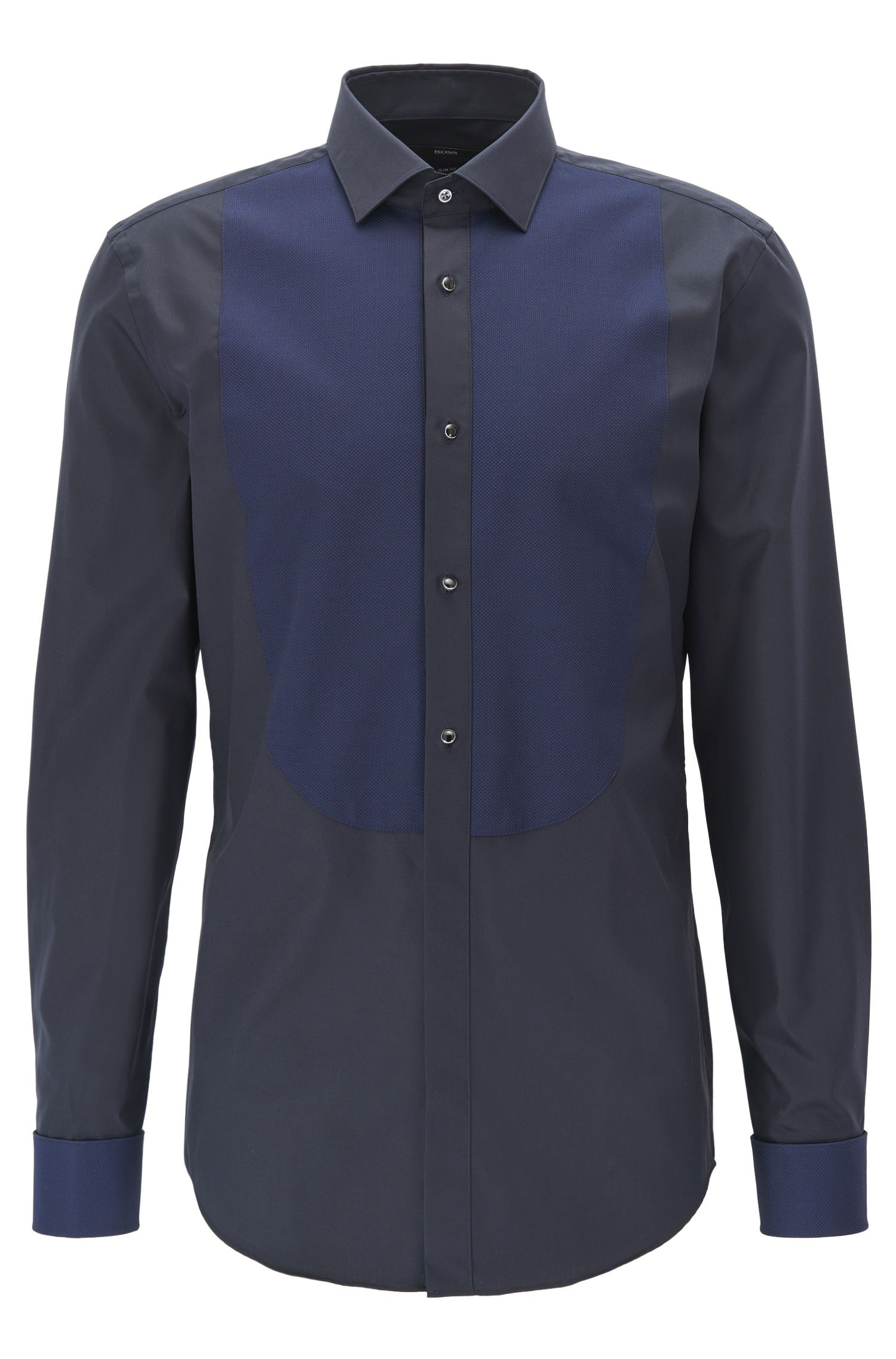 Slim-fit dress shirt in easy-iron cotton