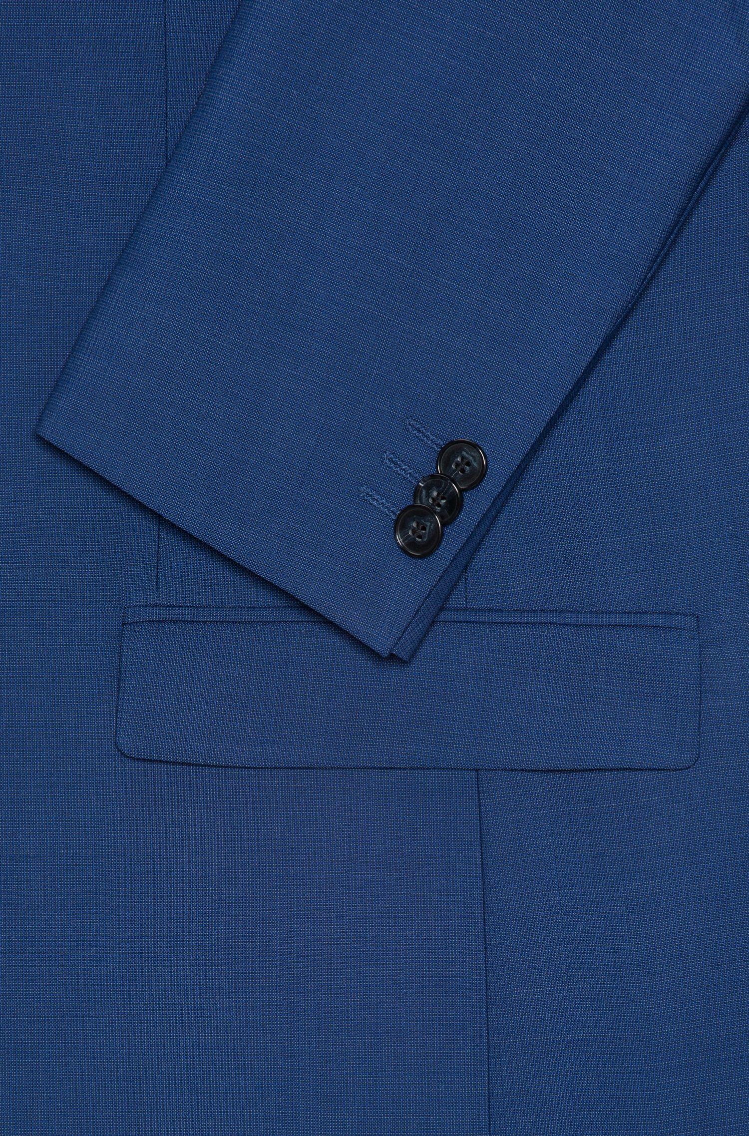 Extra Slim-Fit Anzug aus Schurwolle mit Mikro-Struktur