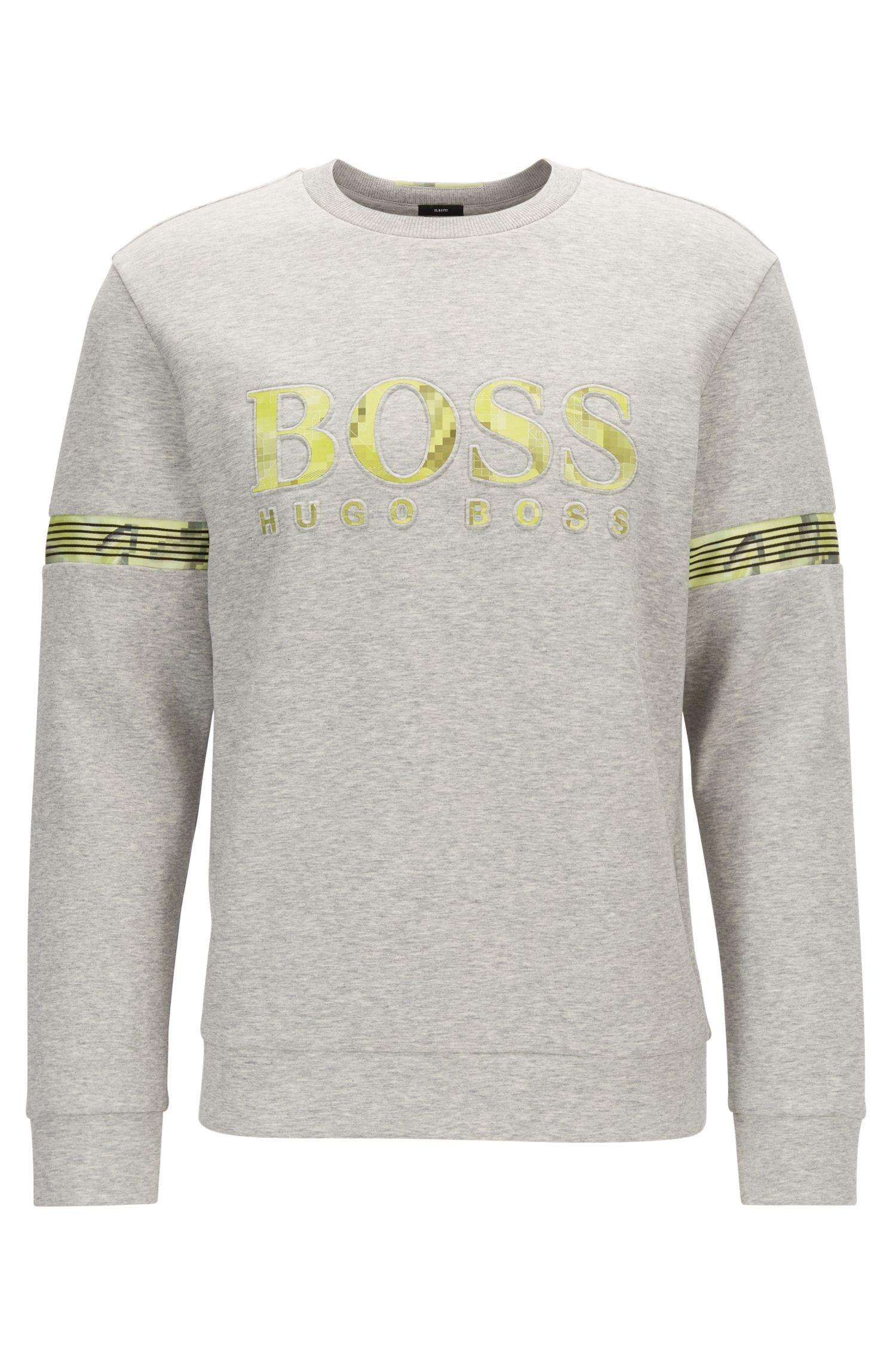 Sweatshirt mit Logo-Print und Mesh-Details