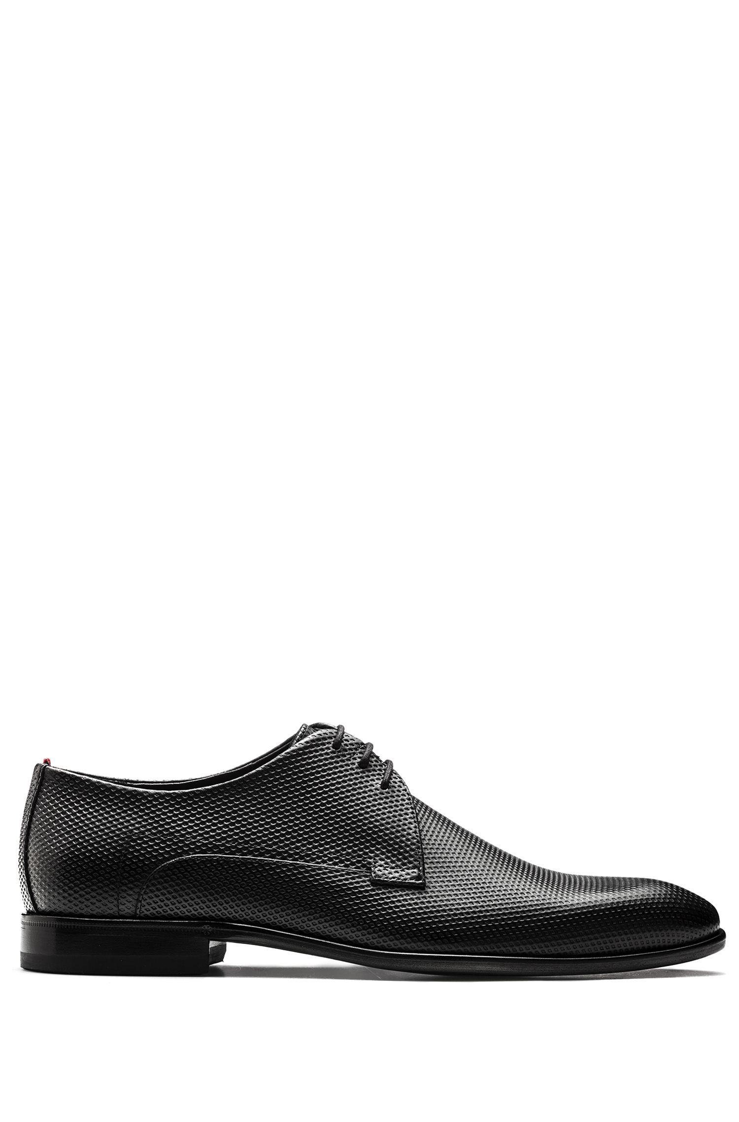 Chaussures derby lacées en cuir de veau imprimé