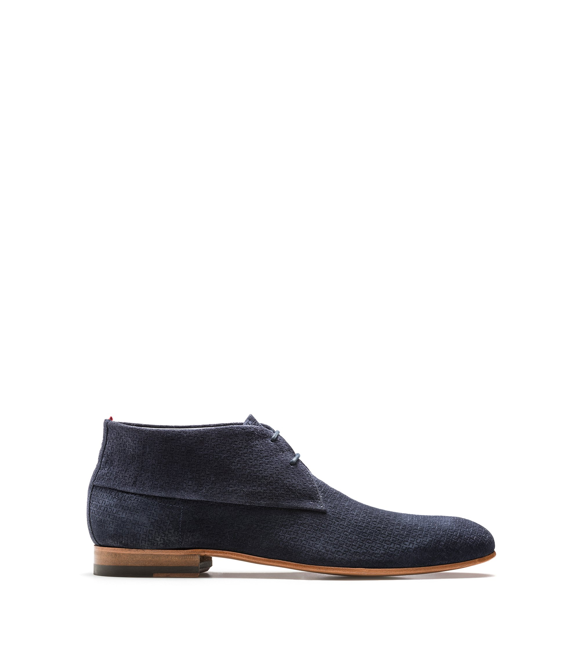 Desert boots with embossed suede uppers, Blue
