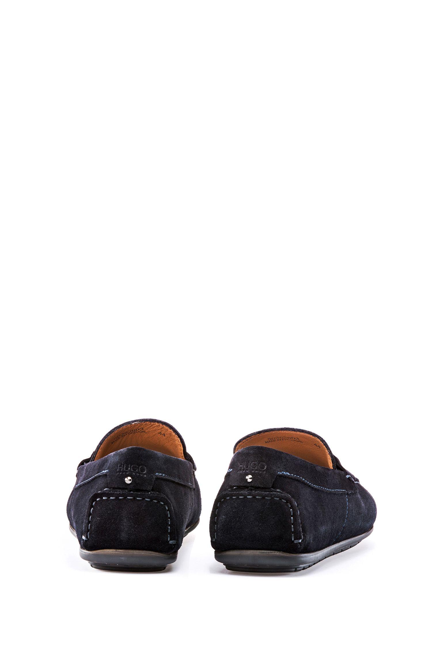 Mokassins aus Veloursleder mit strukturiertem Schuhblatt