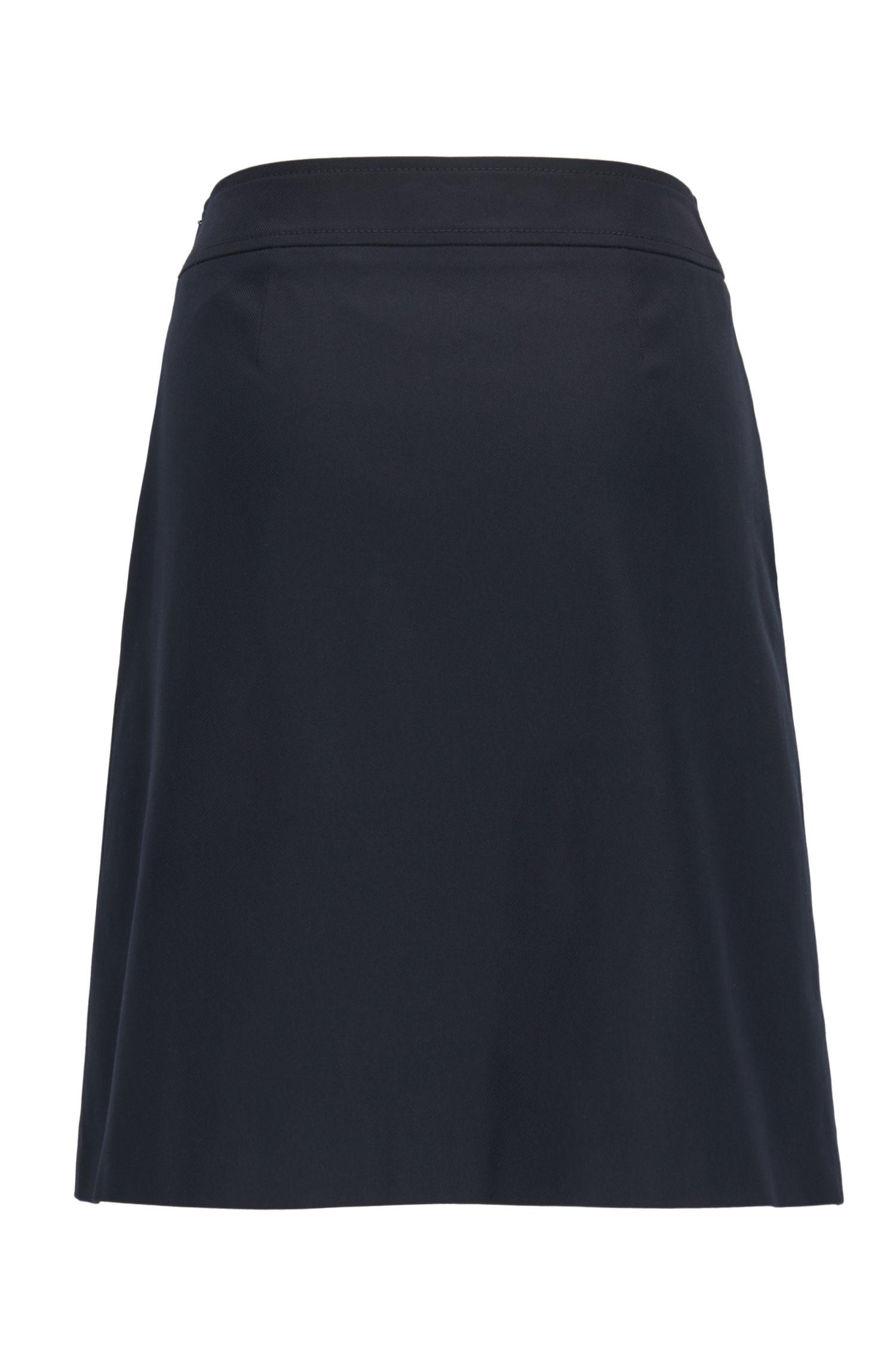 A-line sailor skirt in a stretch cotton blend BOSS