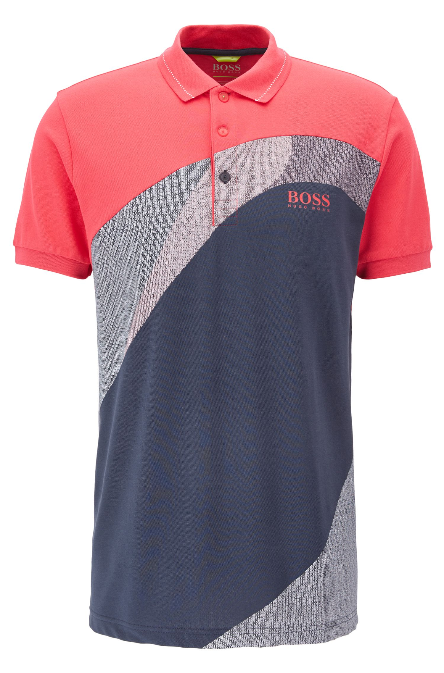 Cotton-blend polo shirt with S.Café®