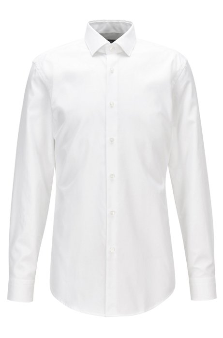 788dc1c8a BOSS - Slim-fit shirt in pure cotton twill