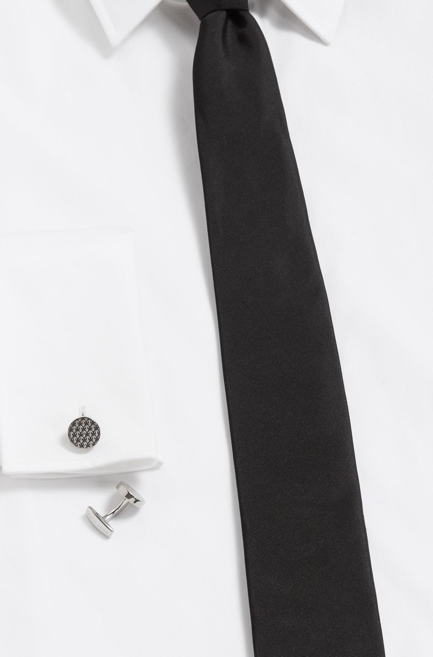 Runde Manschettenknöpfe aus Messing mit Anker-Design