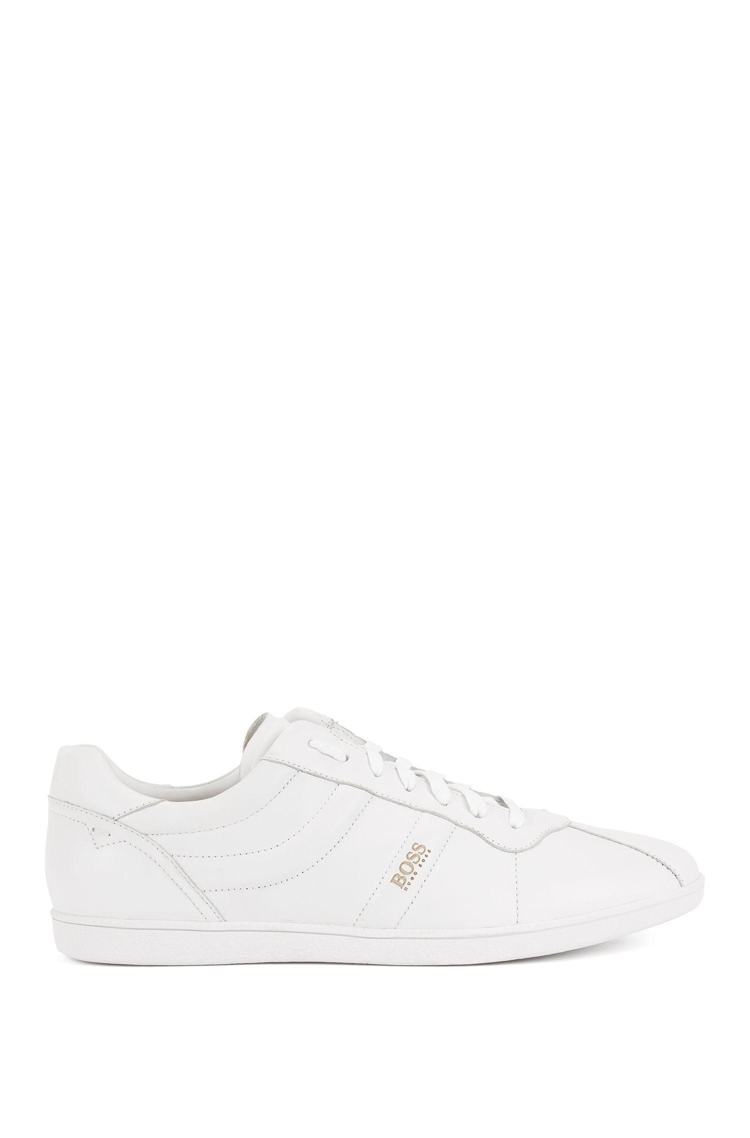 Sneakers low-top in pelle nappa