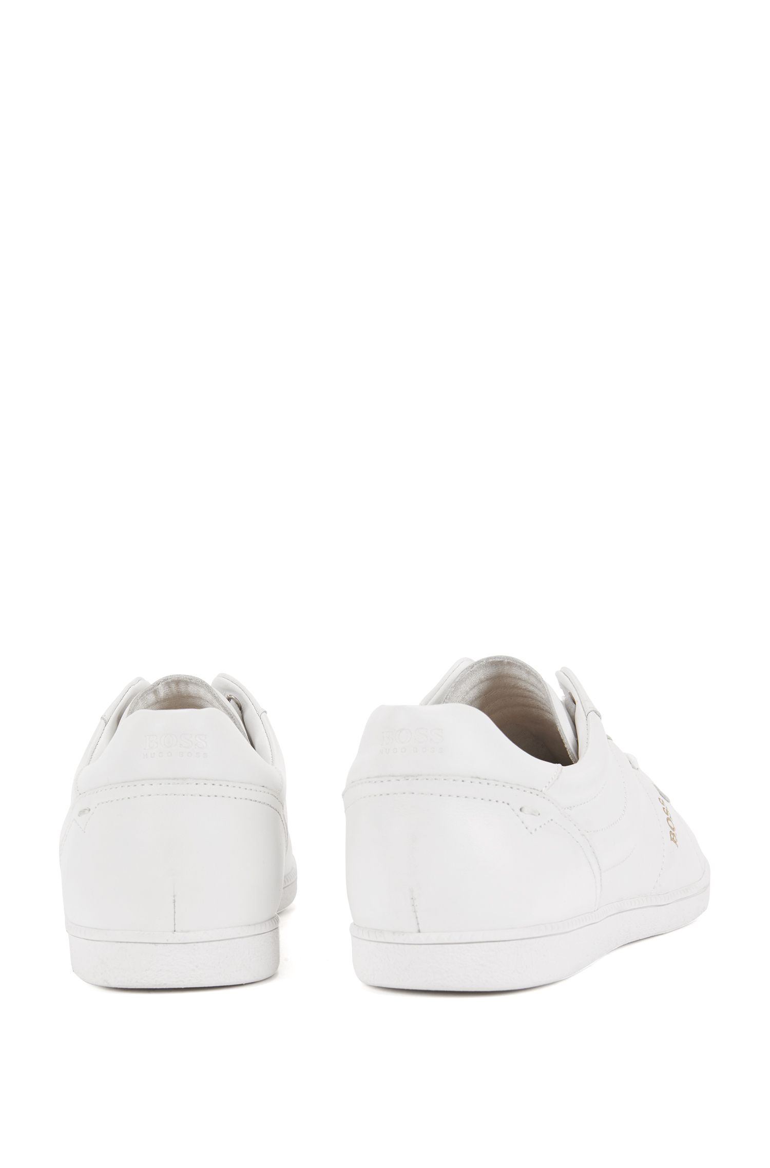 Low-top trainers in nappa leather