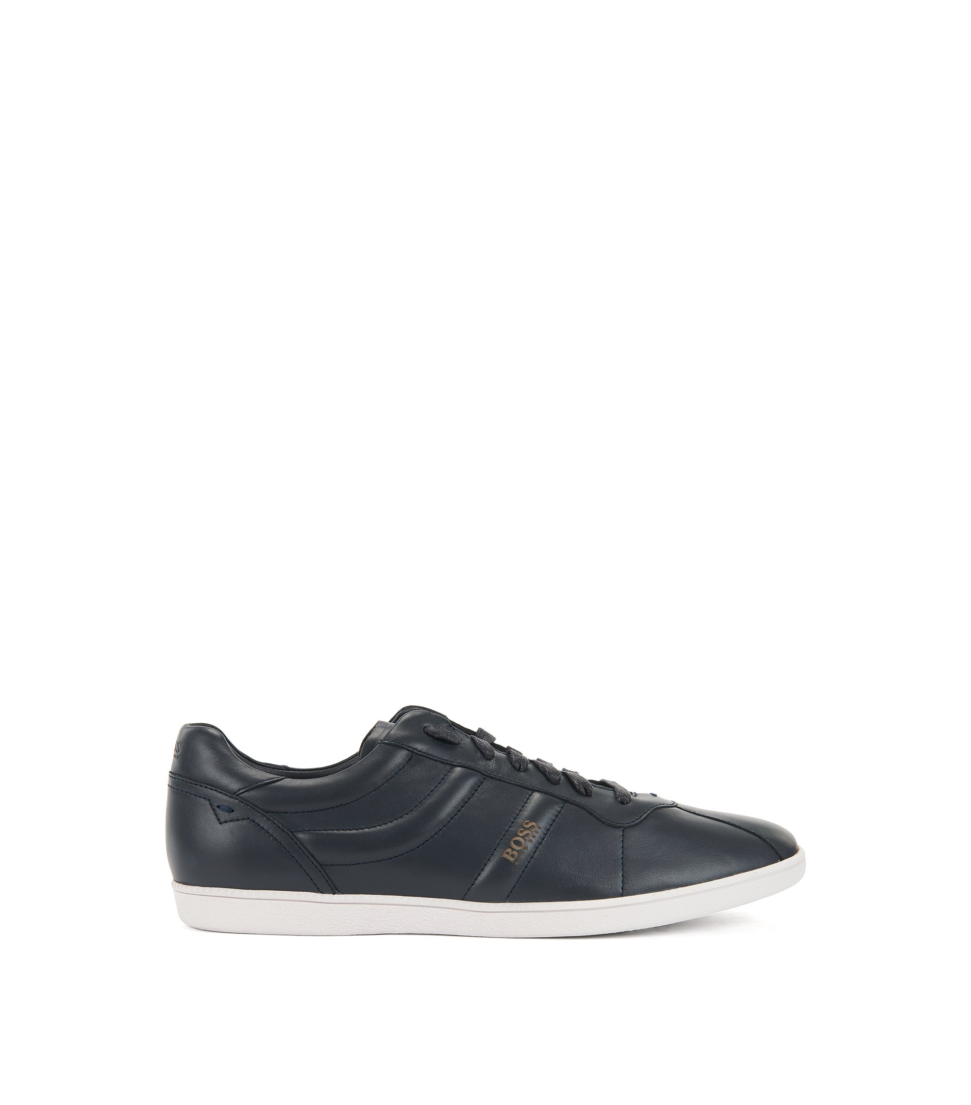 Low-top trainers in nappa leather, Dark Blue