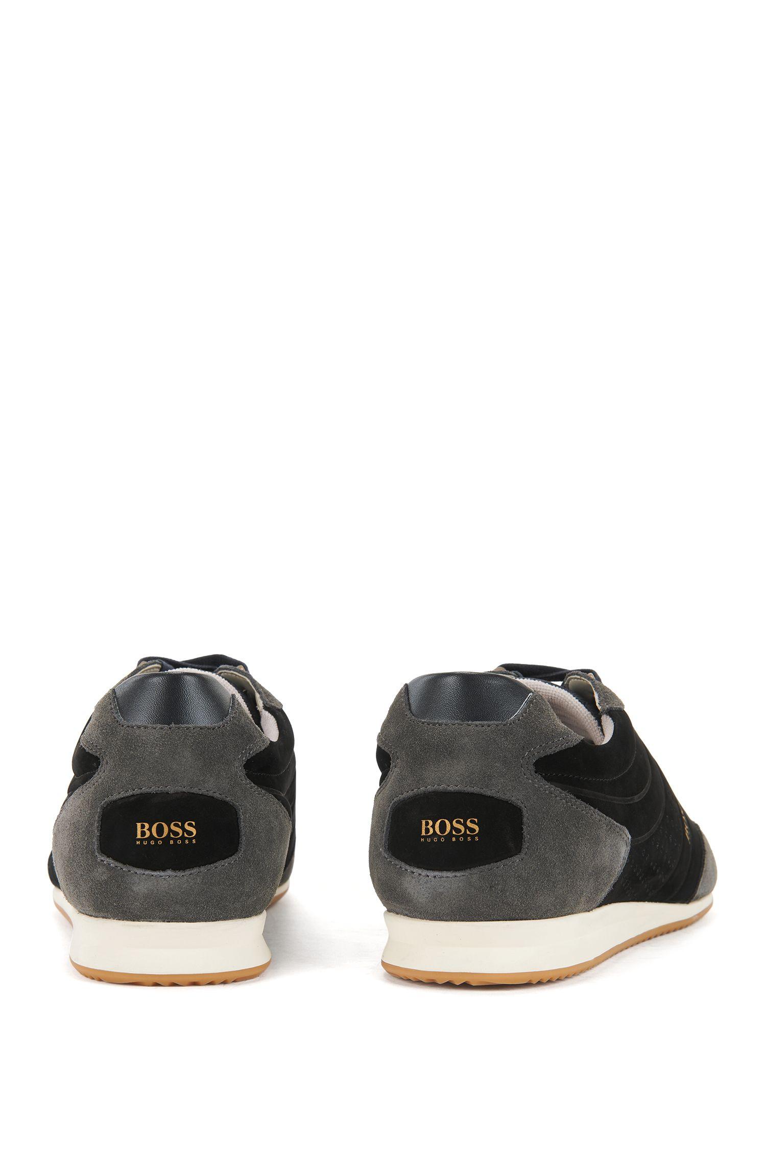 Lowtop Sneakers aus Nubukleder