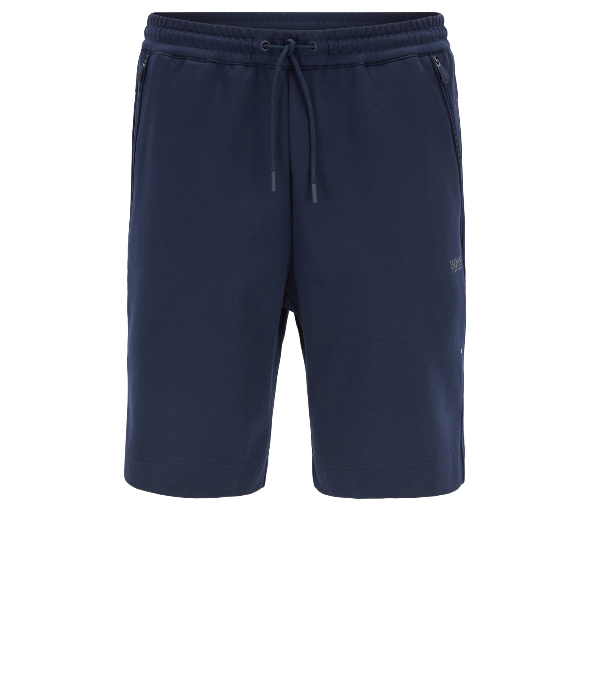 Weather-resistant shorts in a cotton blend, Dark Blue