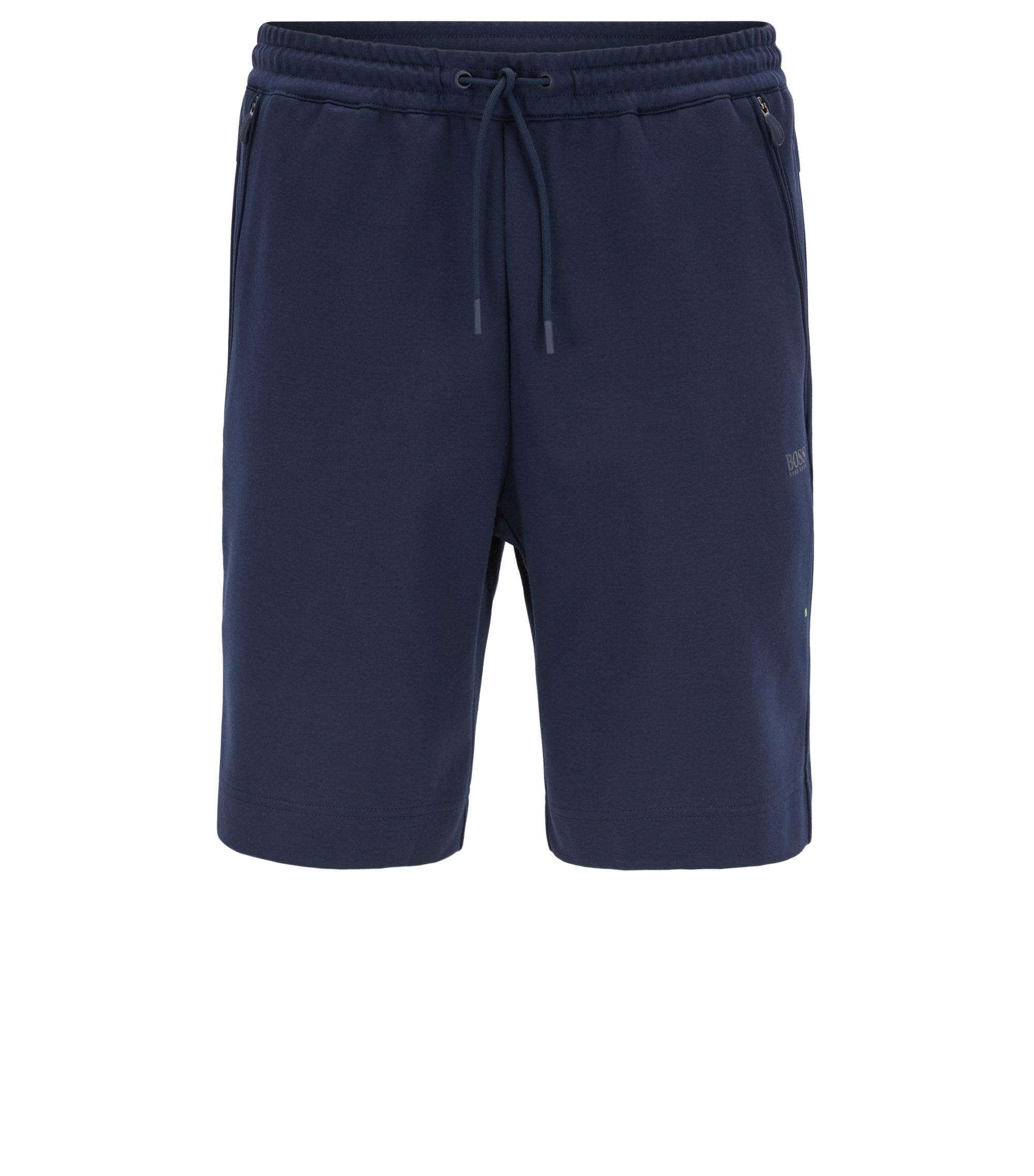 Shorts en mezcla de algodón resistentes a las inclemencias del tiempo, Azul oscuro
