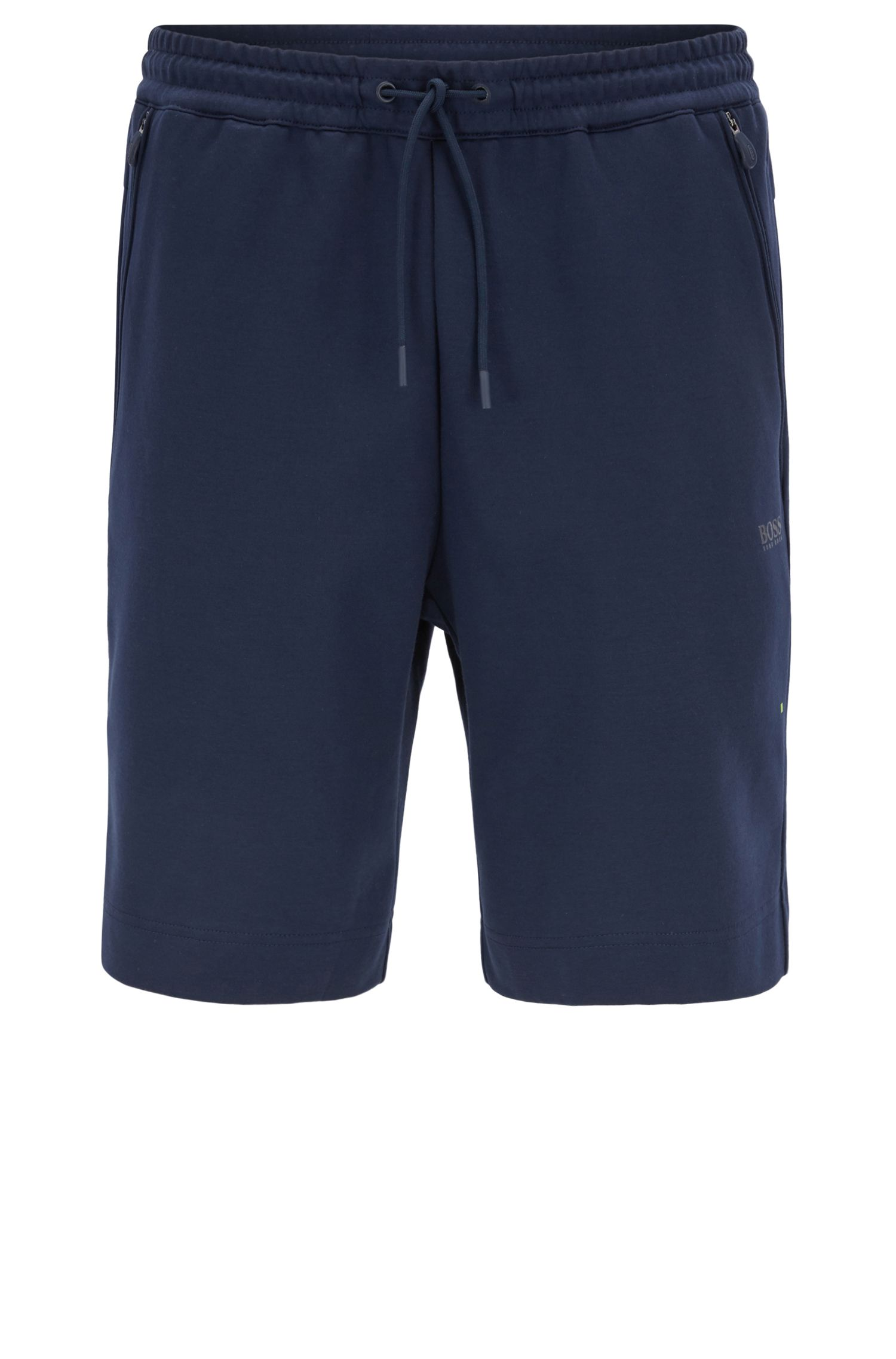 Waterbestendige slim-fit short van een katoenmix