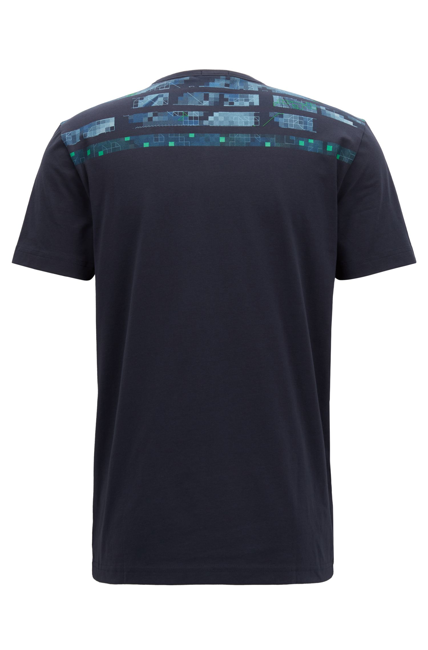 T-Shirt aus Stretch-Baumwolle mit Print der Saison