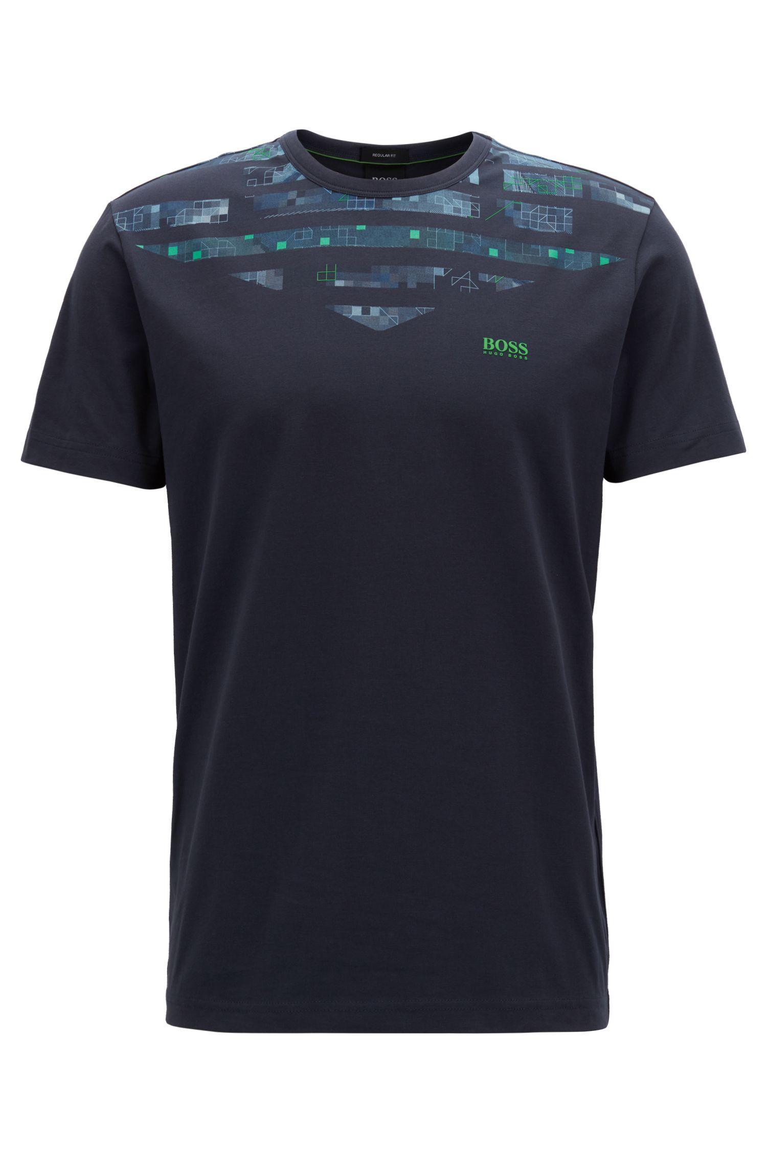 T-shirt in cotone elasticizzato con decorazione tipica della stagione