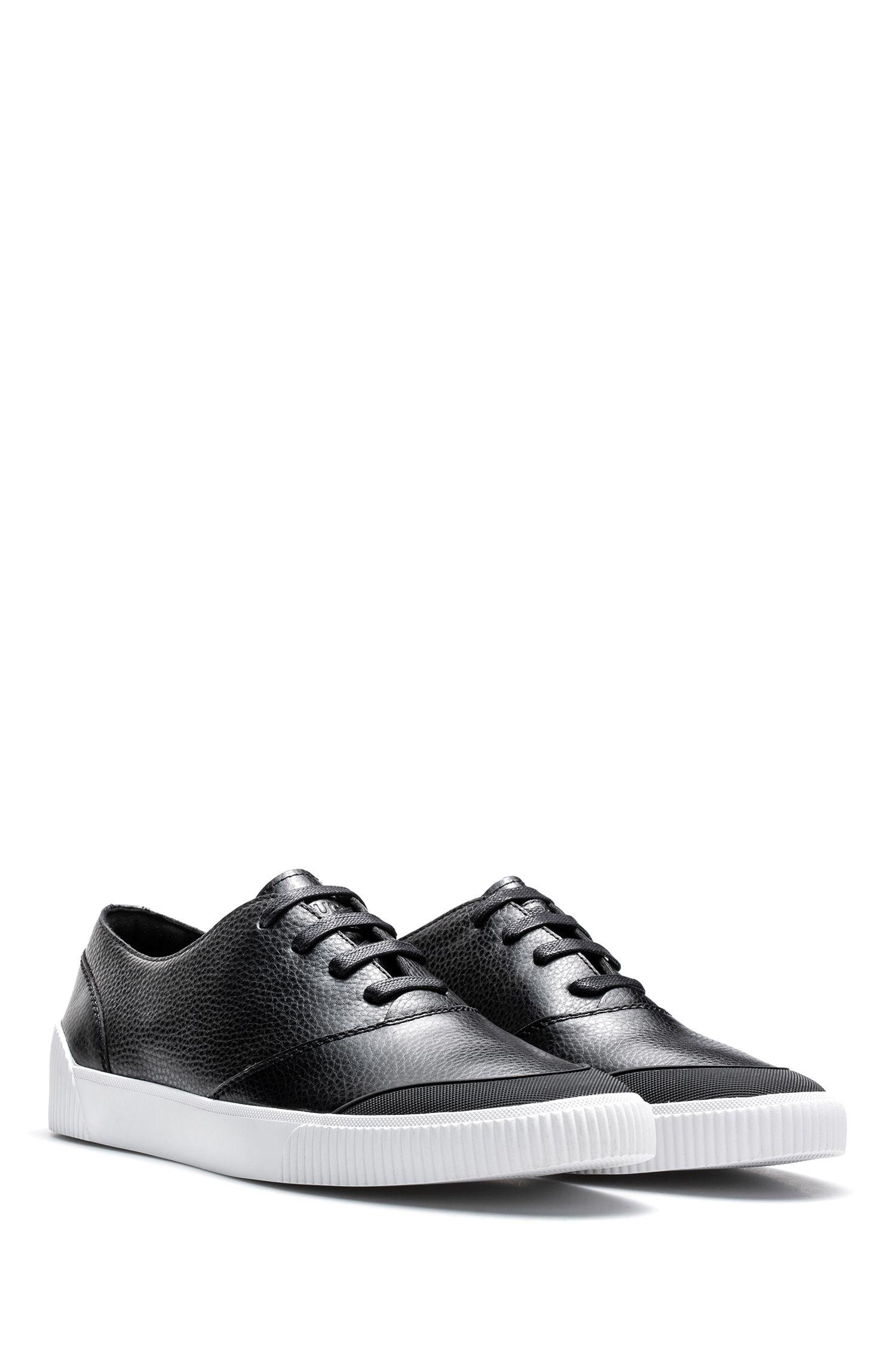 Sneakers aus gewalktem Leder