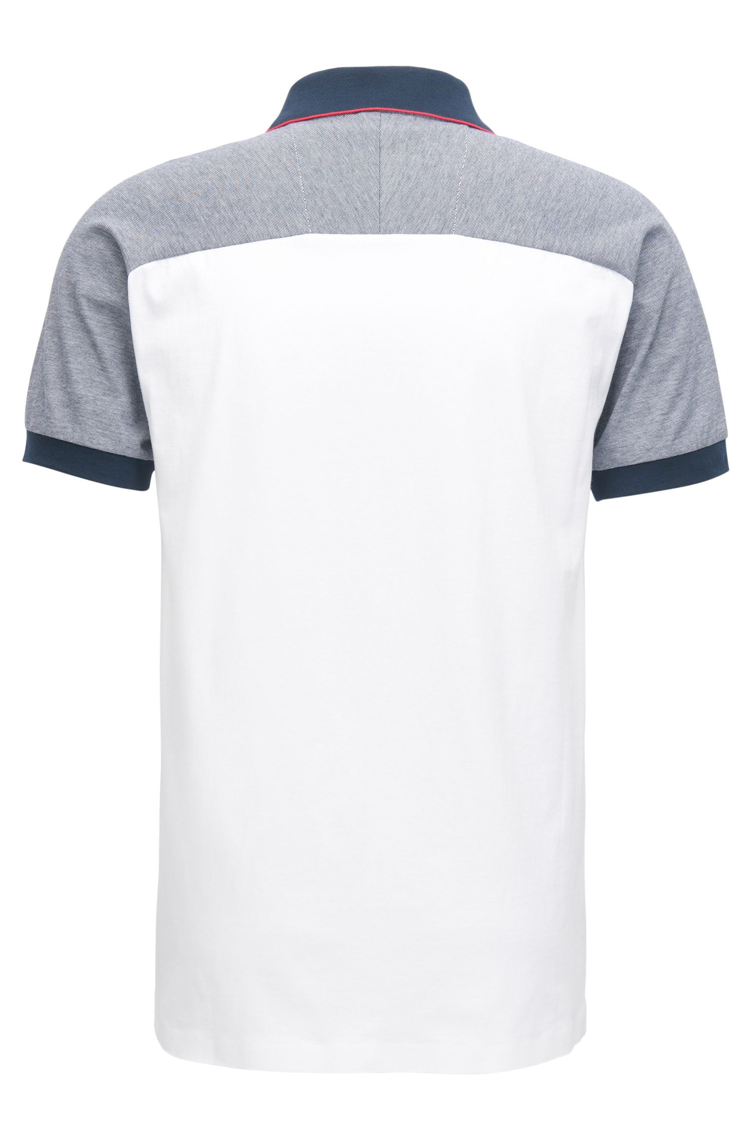 Slim-fit polo shirt in seamless single jersey