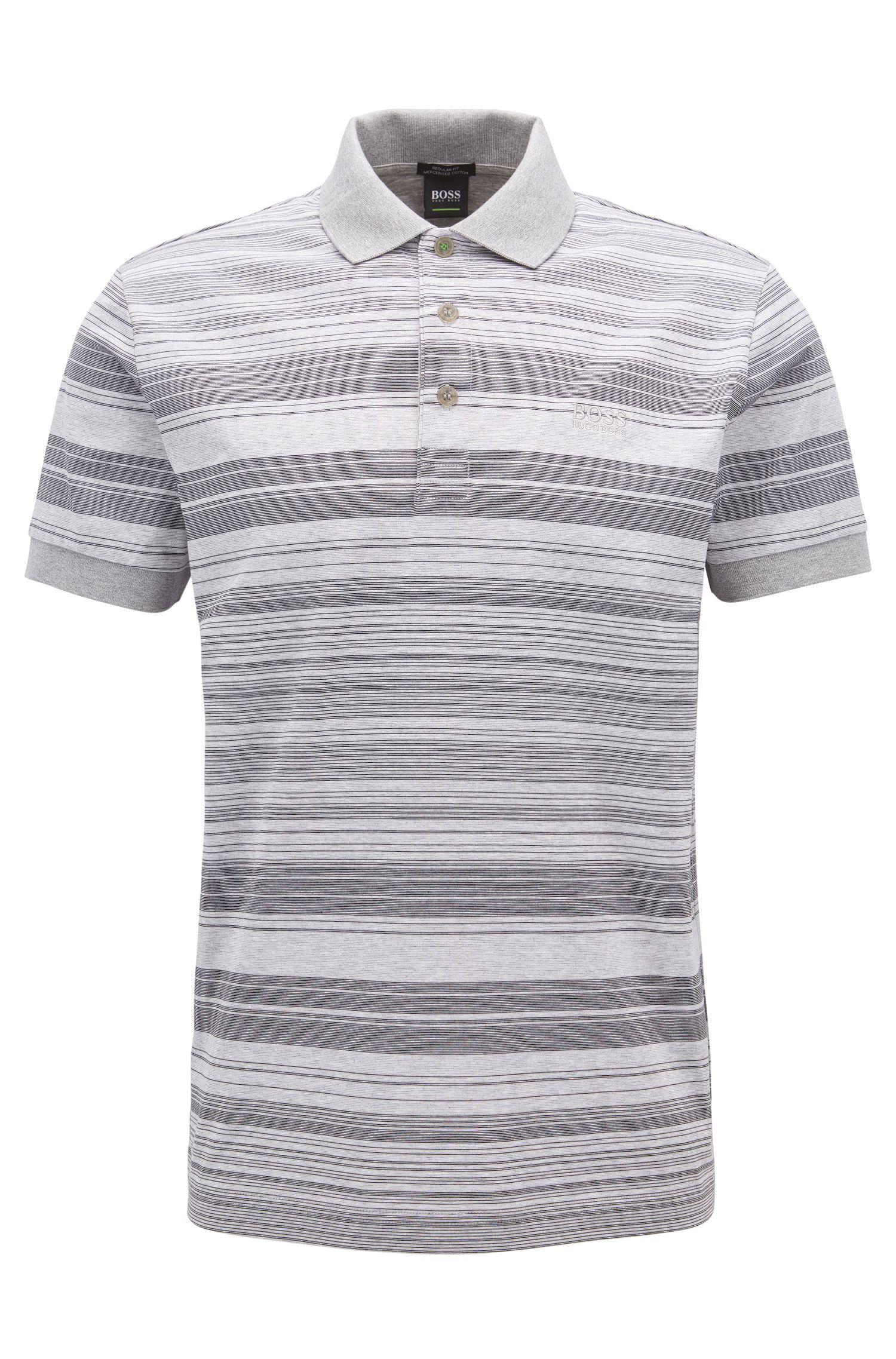 Gestreiftes Poloshirt aus merzerisierter Baumwolle