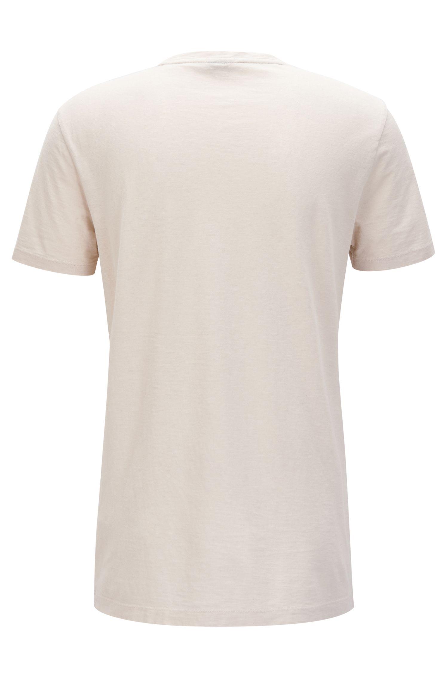 T-Shirt aus italienischem Baumwoll-Mix mit Rundhalsausschnitt