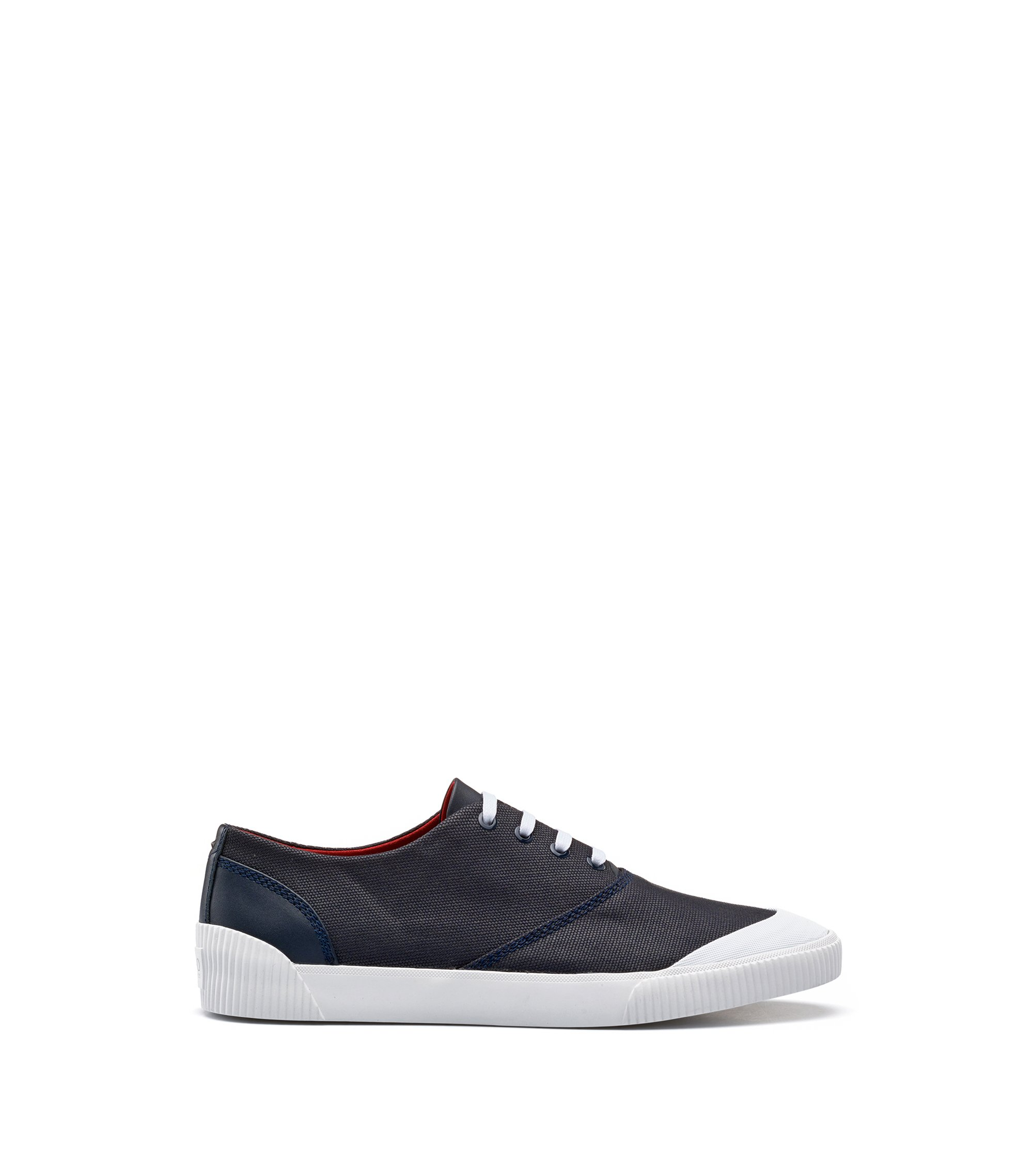 Lace-up tennis shoes in technical fabric, Dark Blue