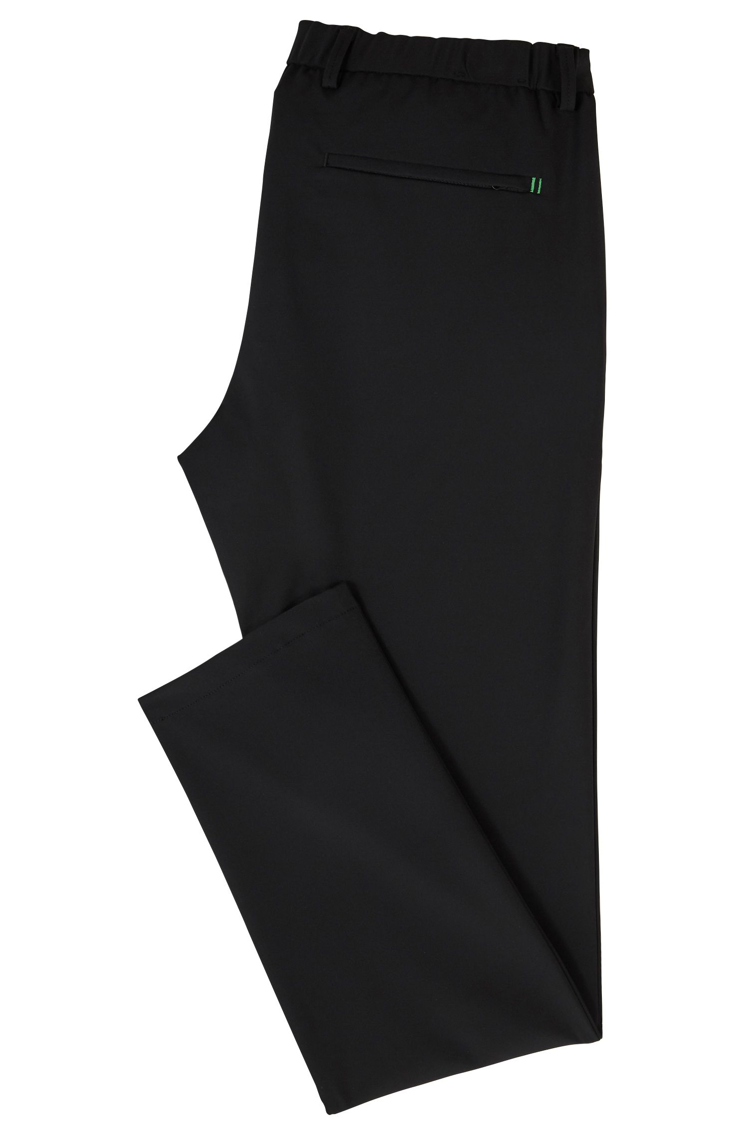 Slim-fit water-repellent trousers in four-way stretch fabric BOSS