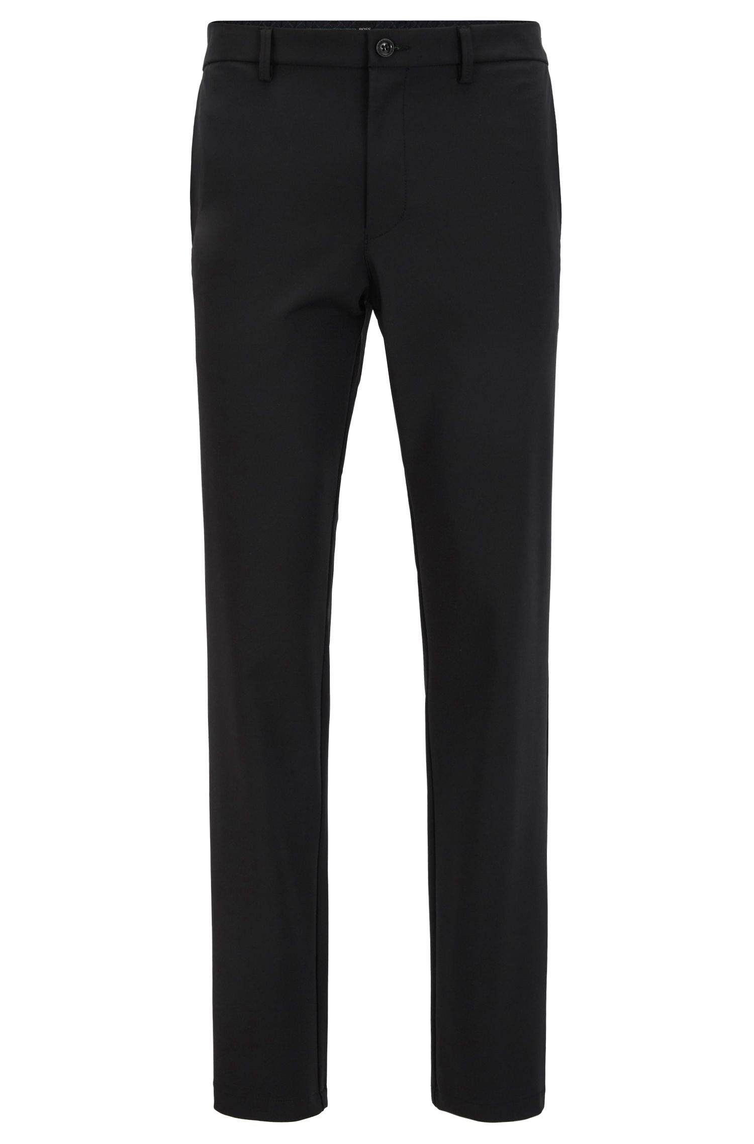 Slim-fit water-repellent trousers in four-way stretch fabric